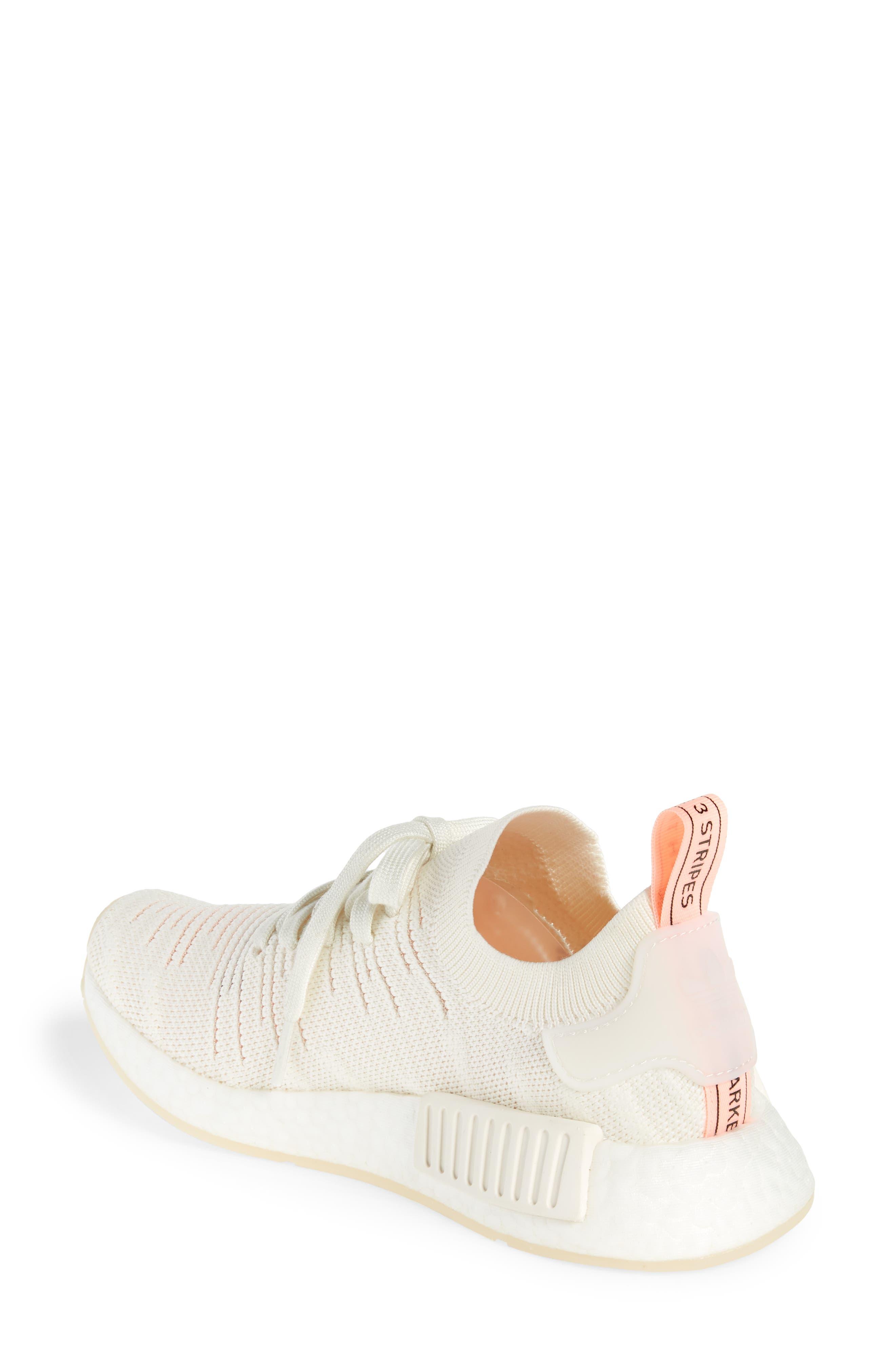 NMD R1 STLT Primeknit Sneaker,                             Alternate thumbnail 2, color,                             100