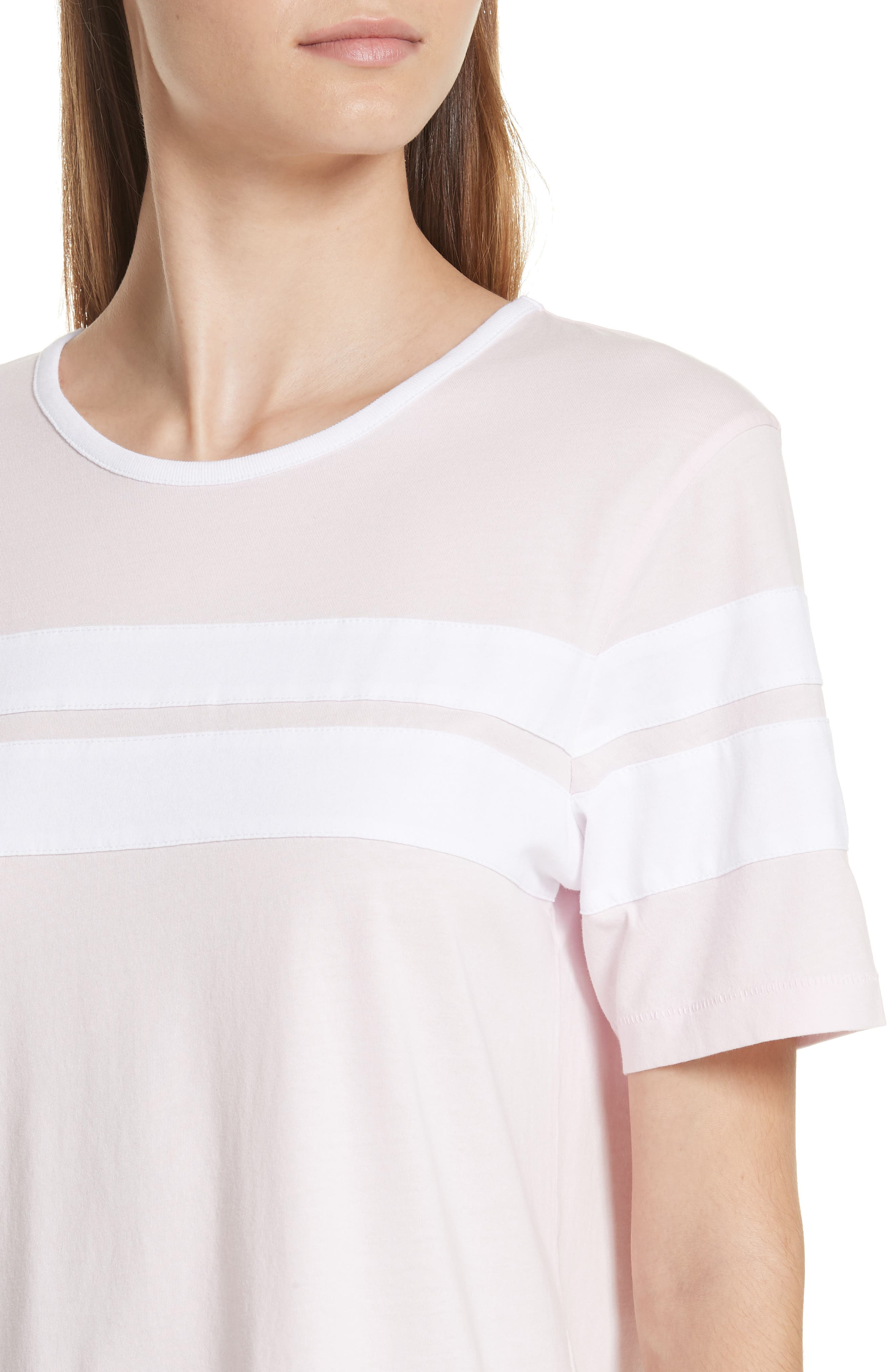 Double Stripe Cotton Tee,                             Alternate thumbnail 4, color,                             650