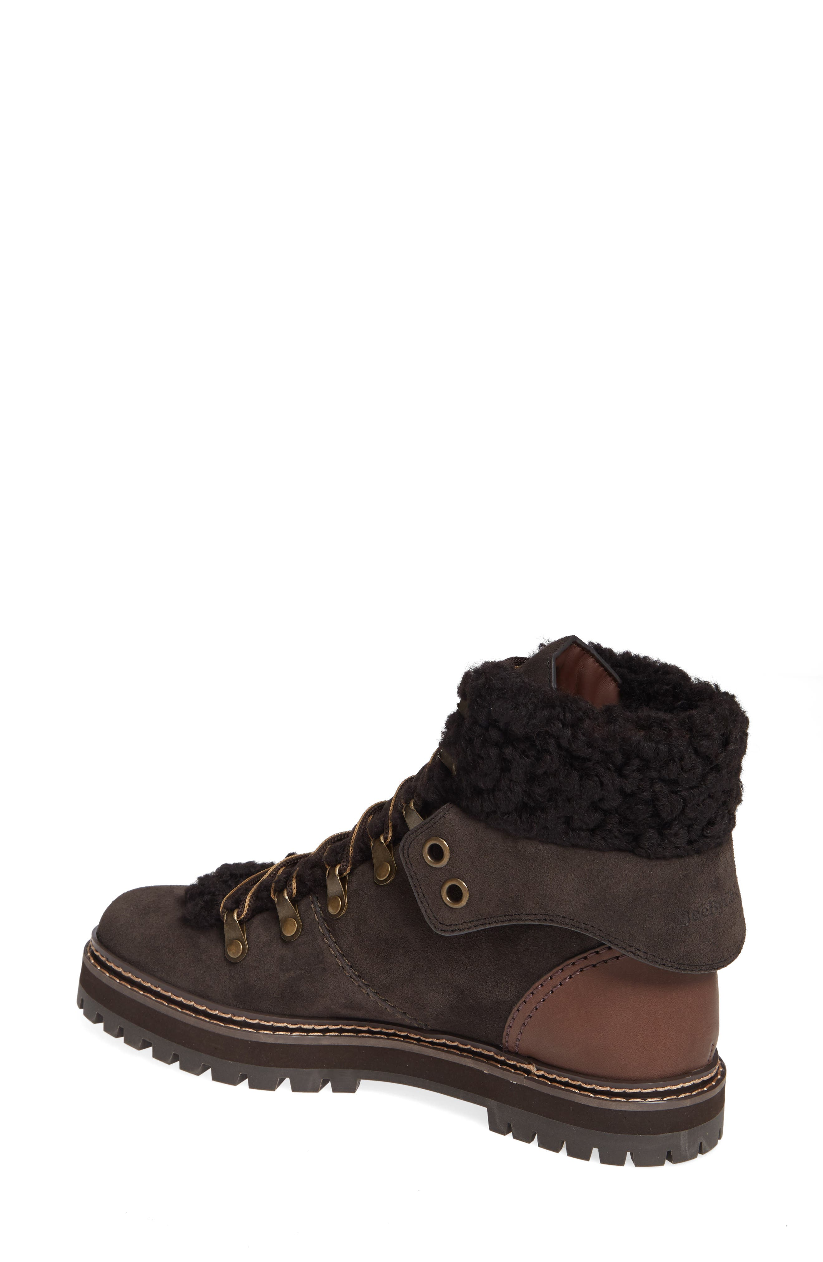 'Eileen' Genuine Shearling Boot,                             Alternate thumbnail 4, color,
