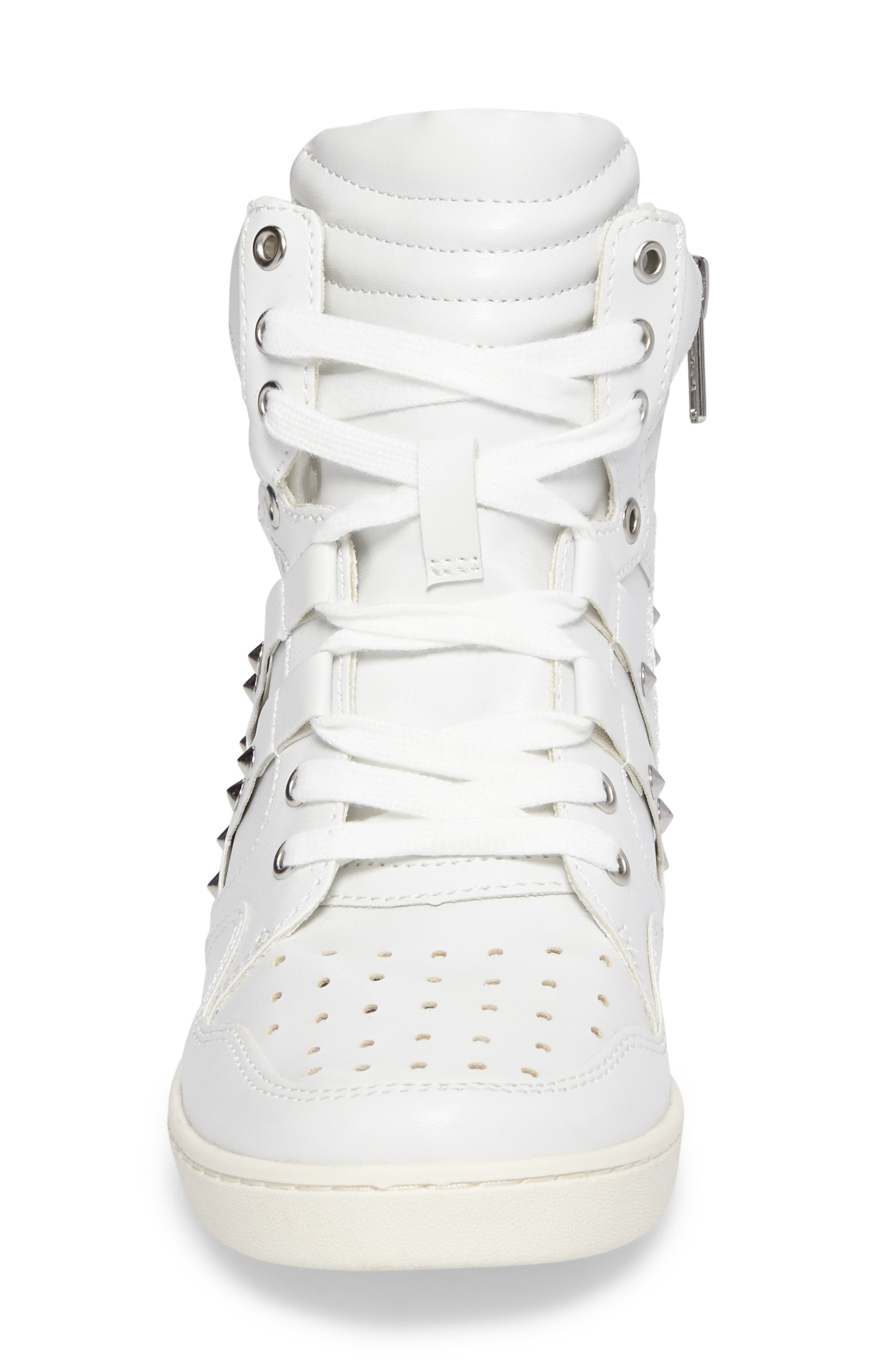Boogie Chic Studded High Top Sneaker,                             Alternate thumbnail 8, color,