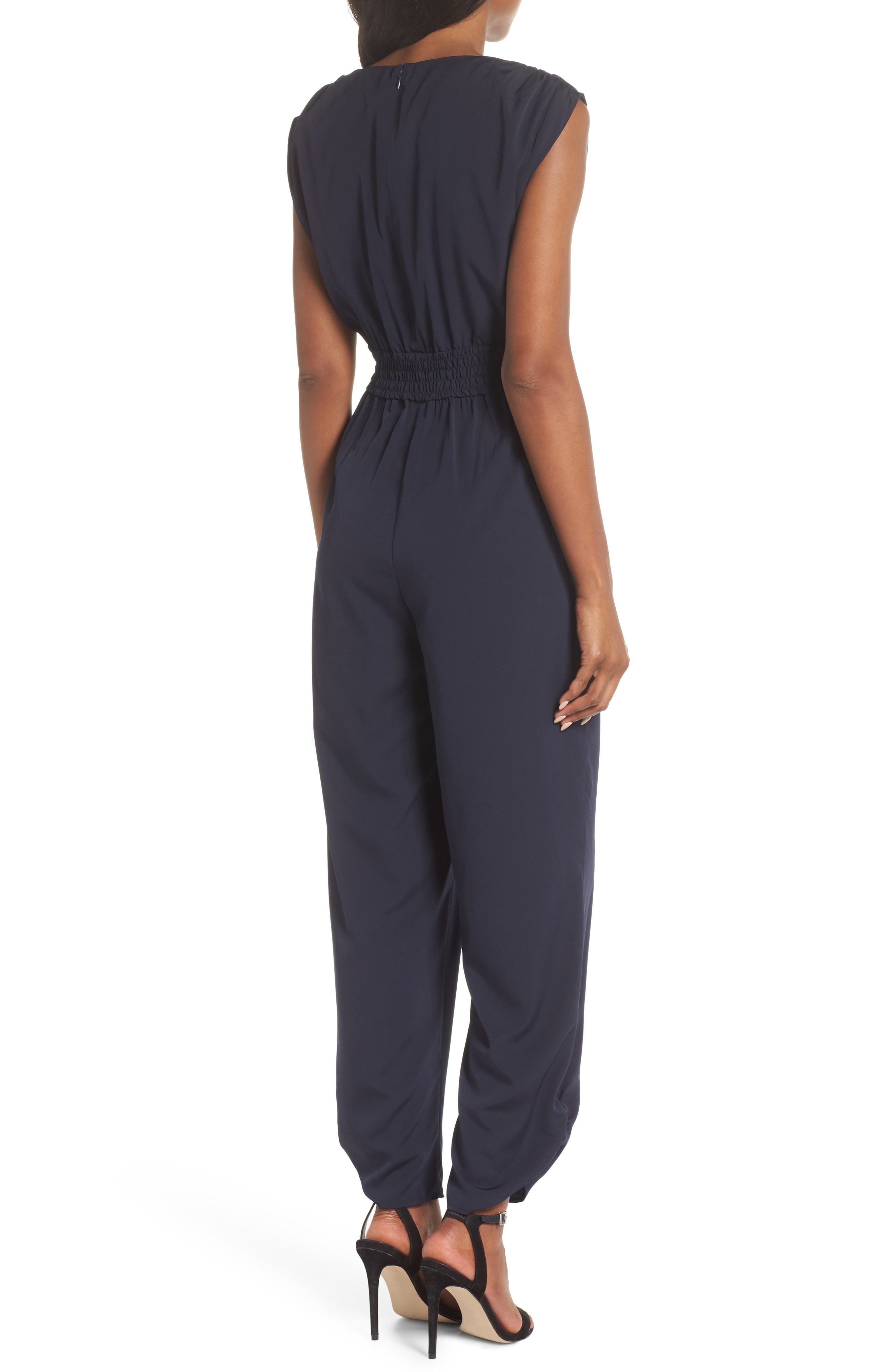 Ruched Ankle Jumpsuit,                             Alternate thumbnail 3, color,                             410