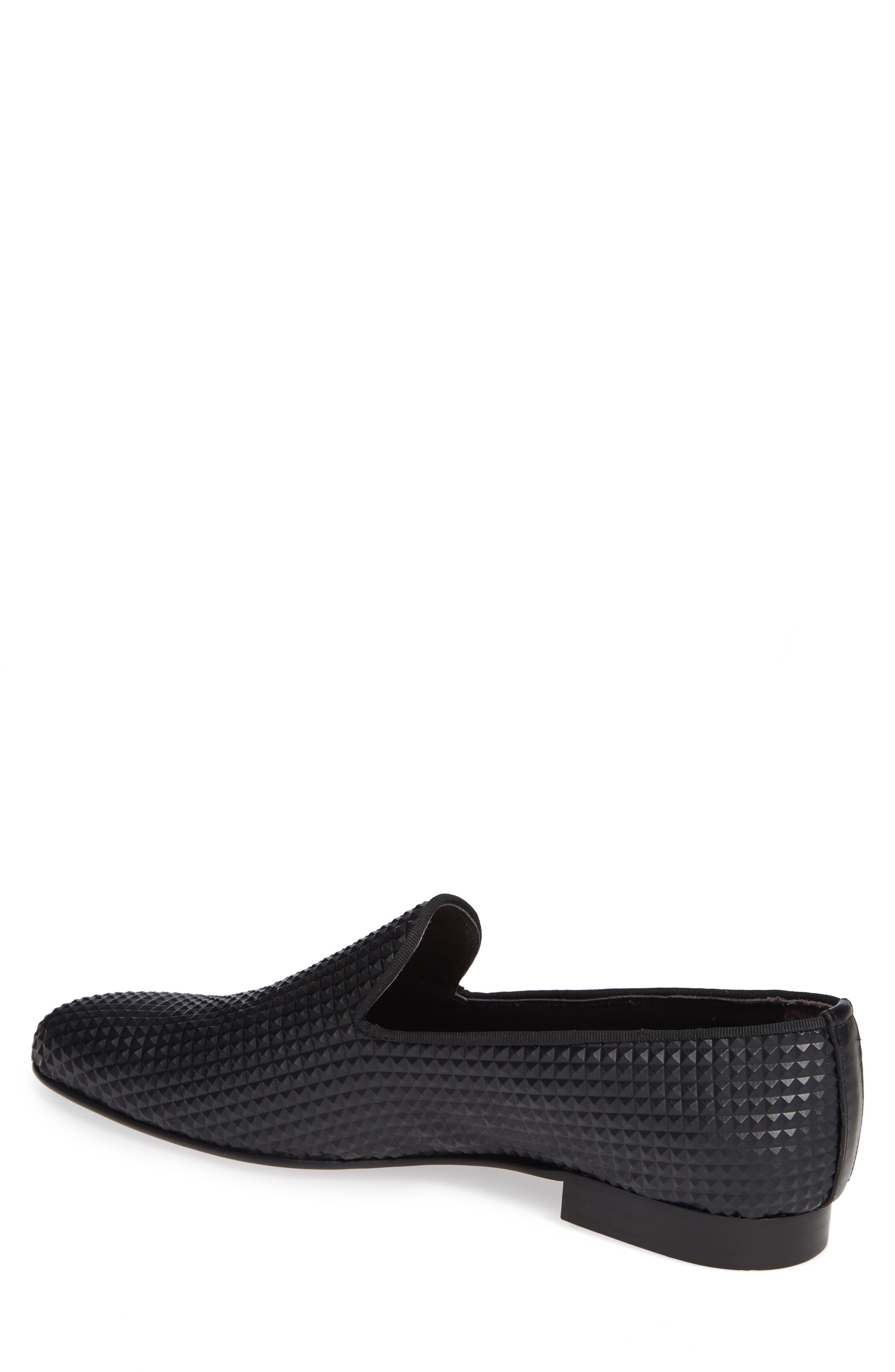 Milan Studded Venetian Loafer,                             Alternate thumbnail 2, color,                             BLACK