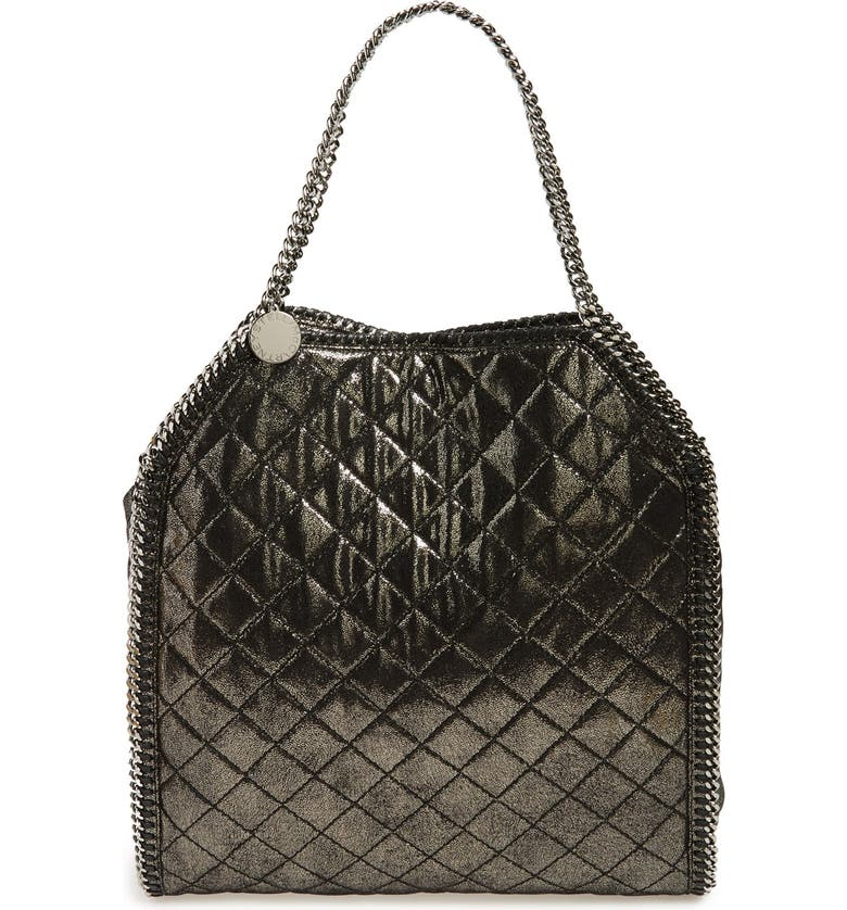 e243570b53 STELLA MCCARTNEY  Falabella - Large  Quilted Metallic Faux Leather Tote