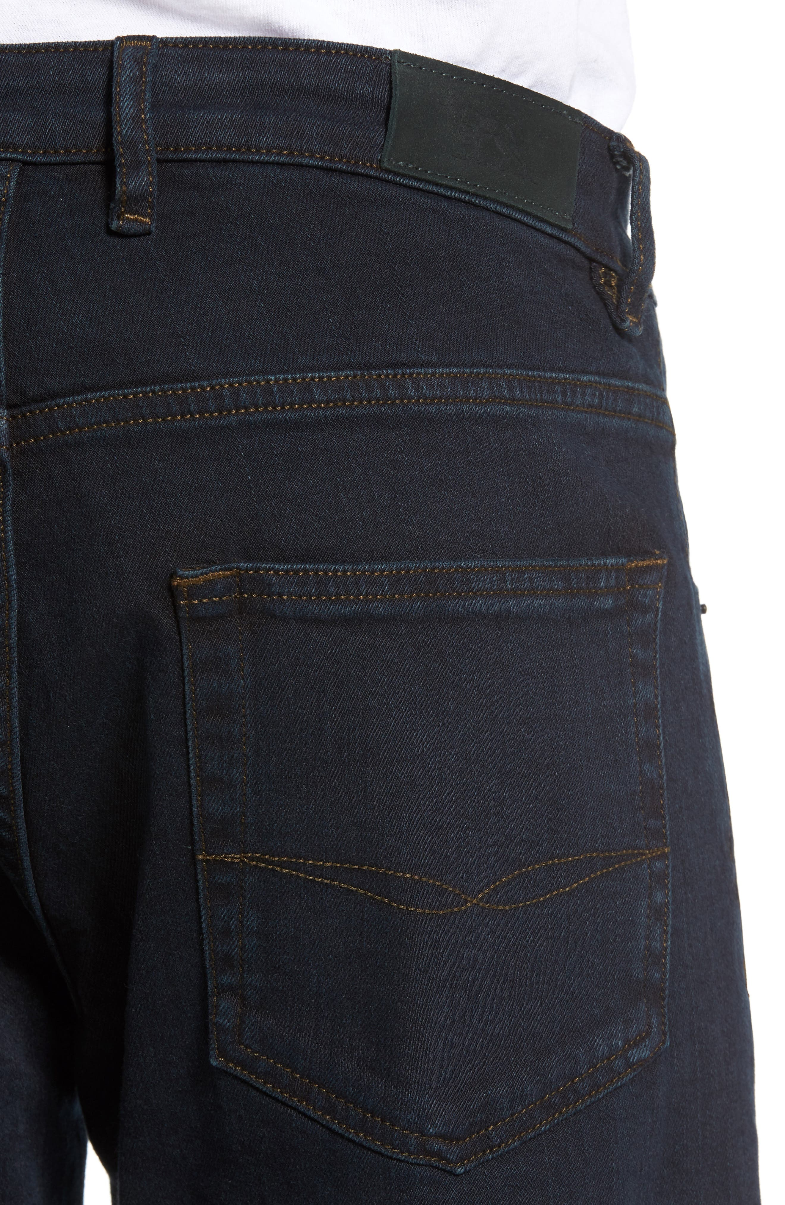 Cobham Relaxed Fit Jeans,                             Alternate thumbnail 4, color,                             BLUE BLACK