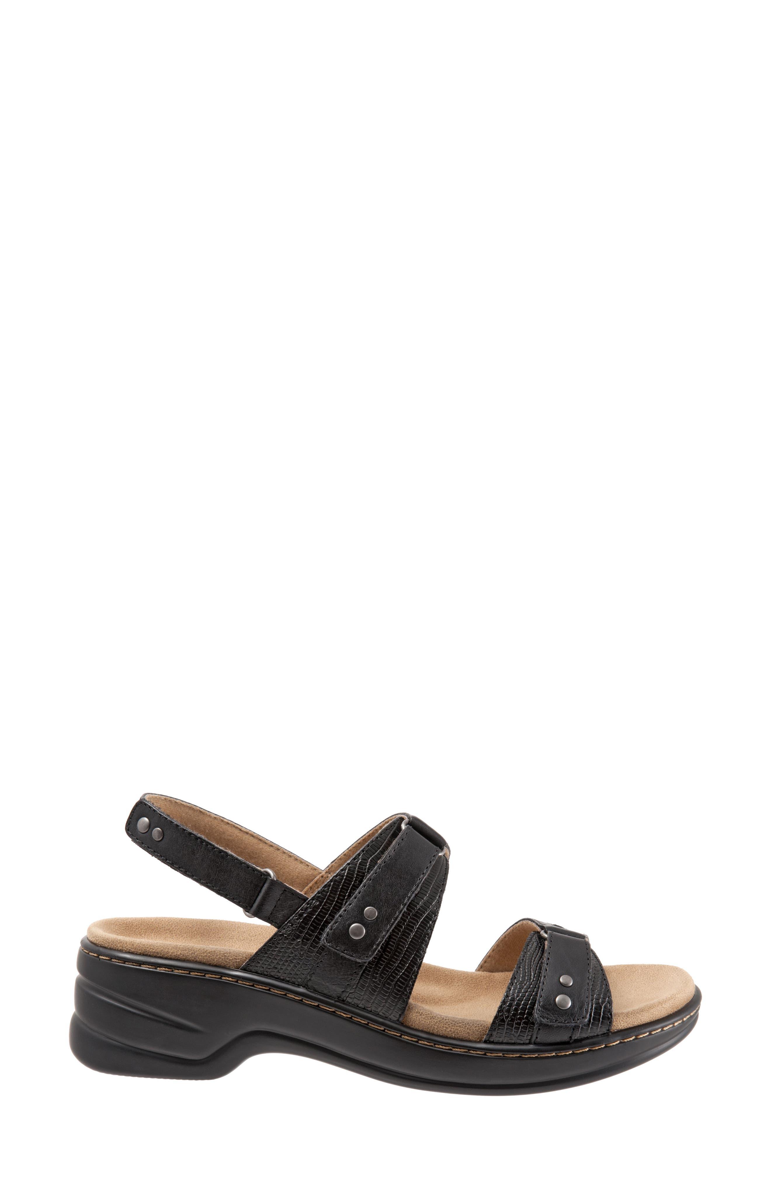 Newton Sandal,                             Alternate thumbnail 3, color,                             BLACK LEATHER