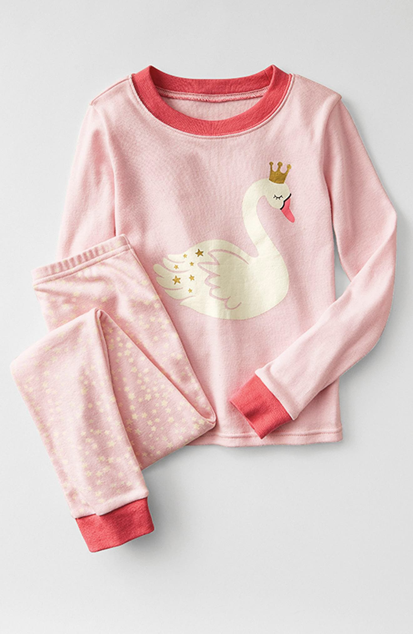 Fitted Two-Piece Pajamas,                             Alternate thumbnail 3, color,                             IVORY EGRET MONSTER