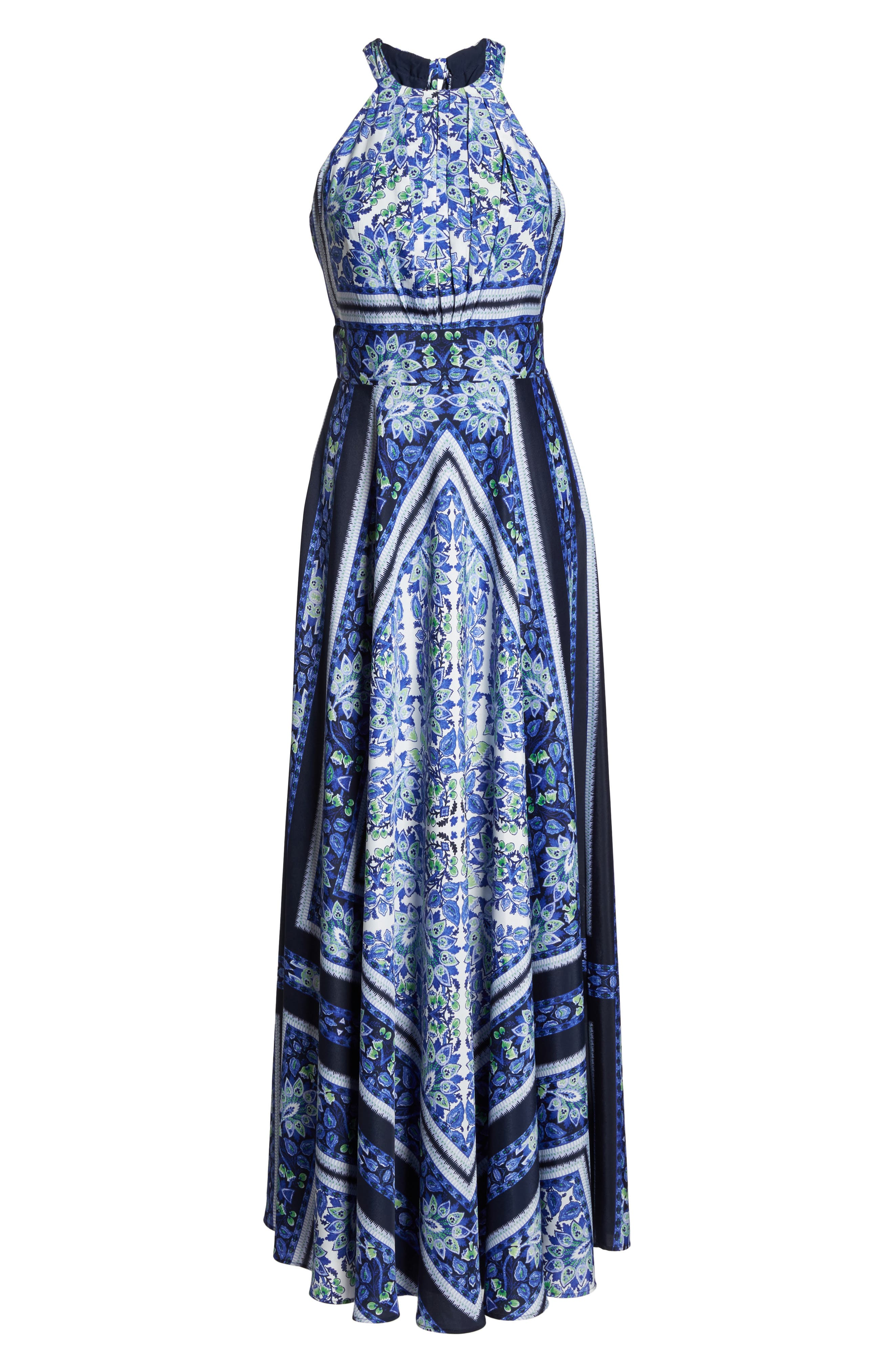 Scarf Print Maxi Dress,                             Alternate thumbnail 6, color,                             436