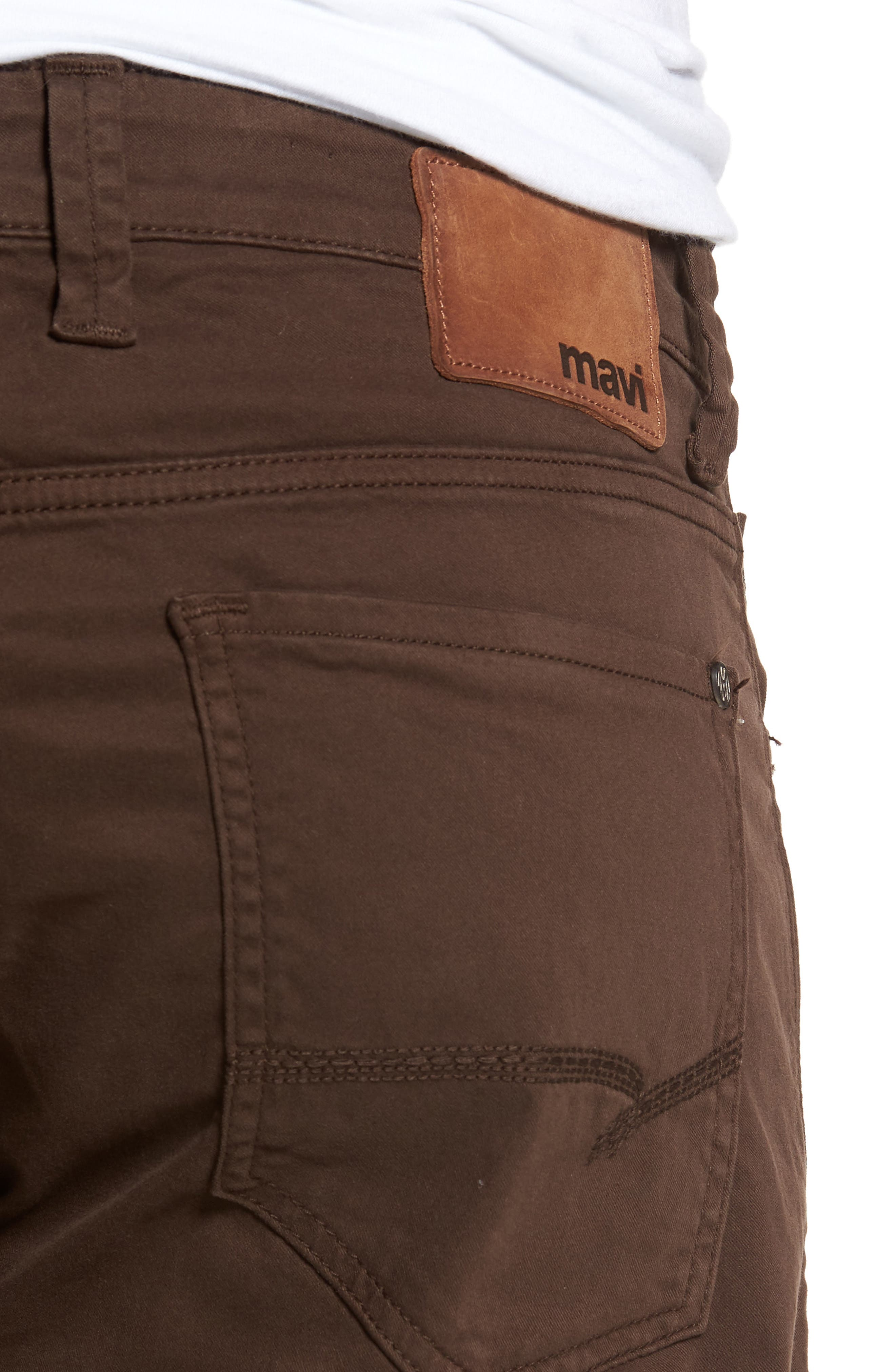 Zach Straight Fit Twill Pants,                             Alternate thumbnail 4, color,                             COFFEE BEAN TWILL