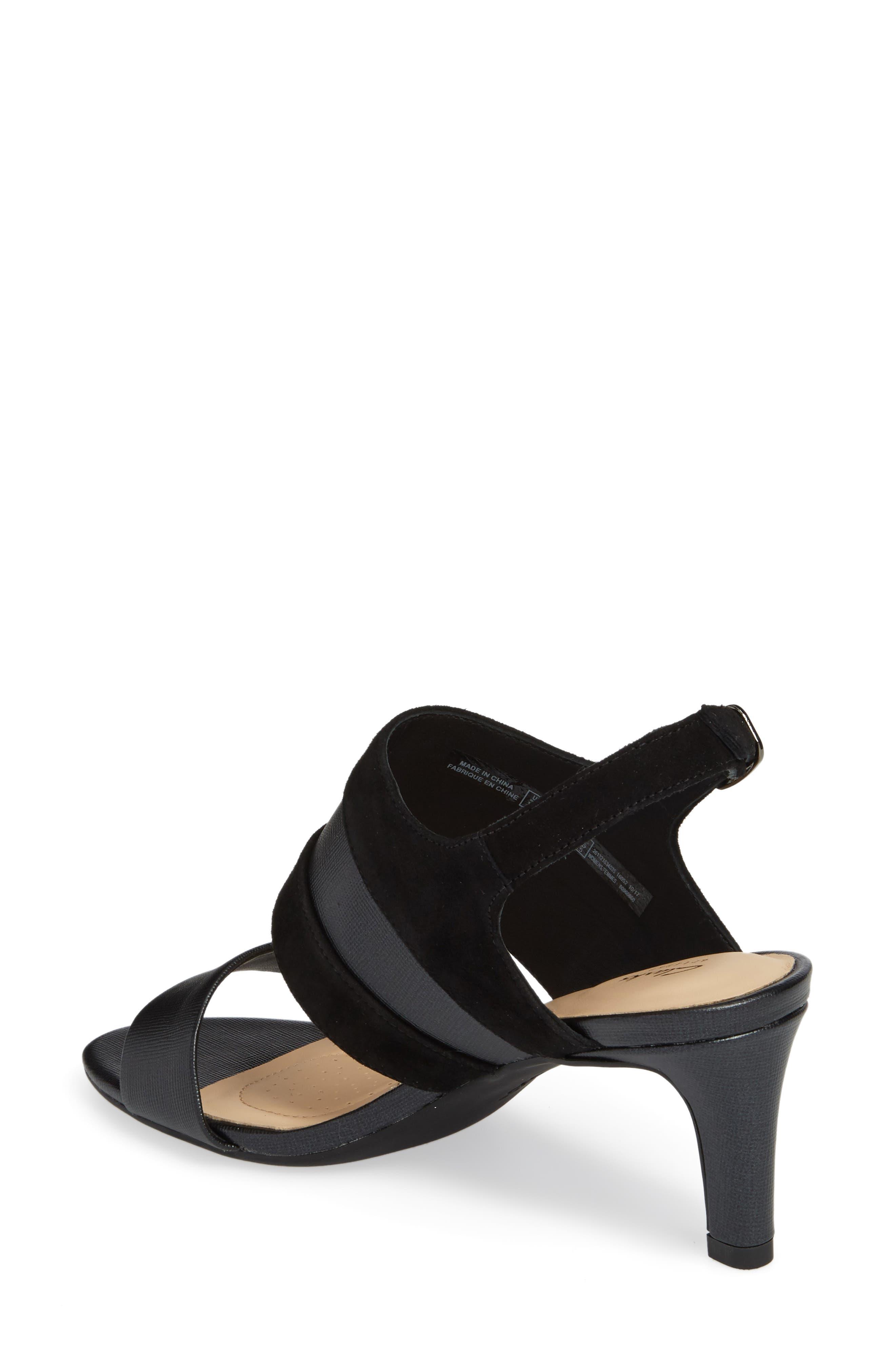 Laureti Joy Slingback Sandal,                             Alternate thumbnail 2, color,                             BLACK COMBI SUEDE