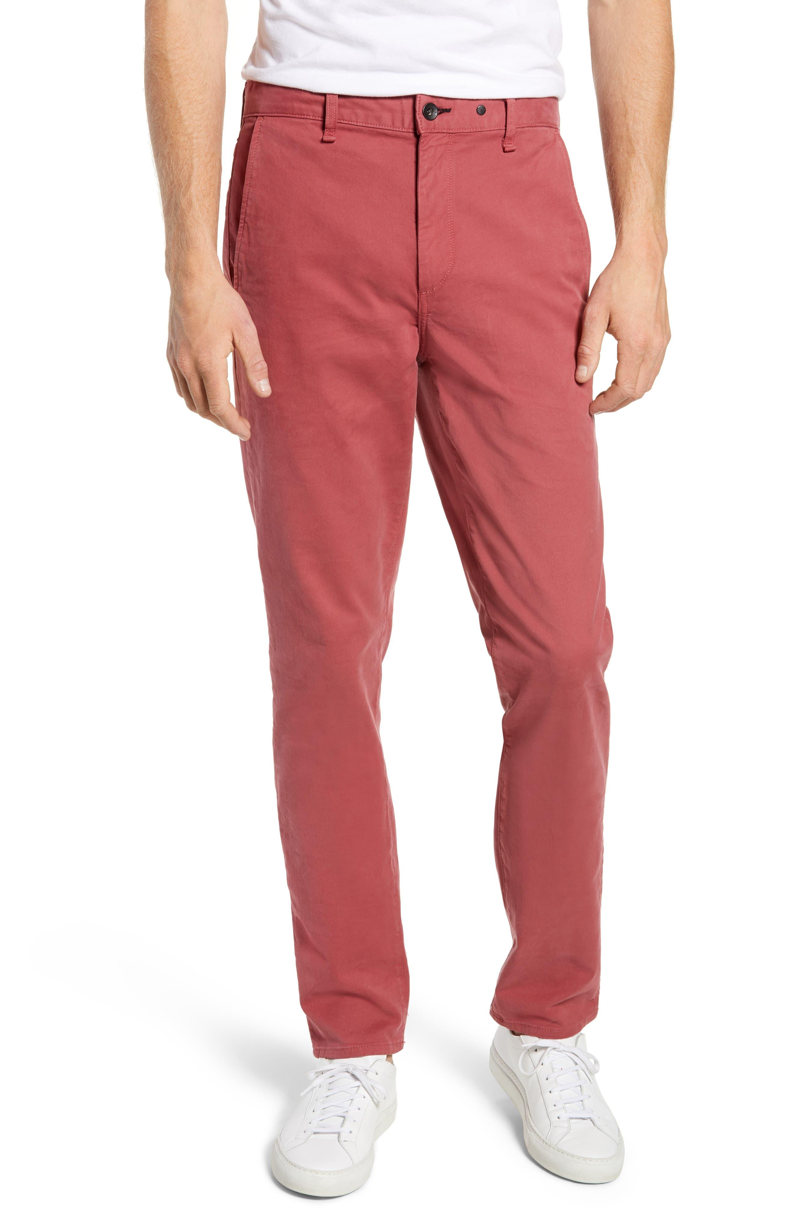 RAG & BONE Fit 2 Slim Fit Chinos, Main, color, ELLIS RED