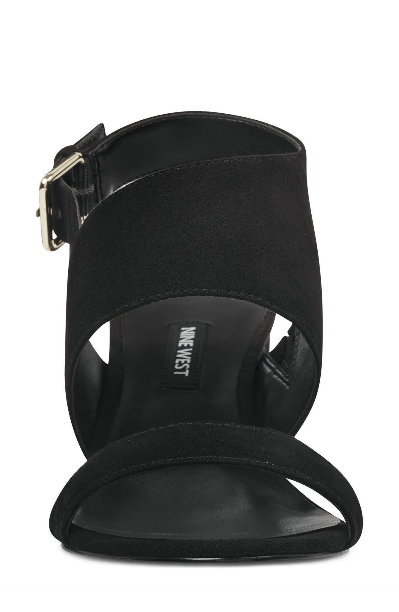 Forli Asymmetrical Sandal,                             Alternate thumbnail 4, color,                             001