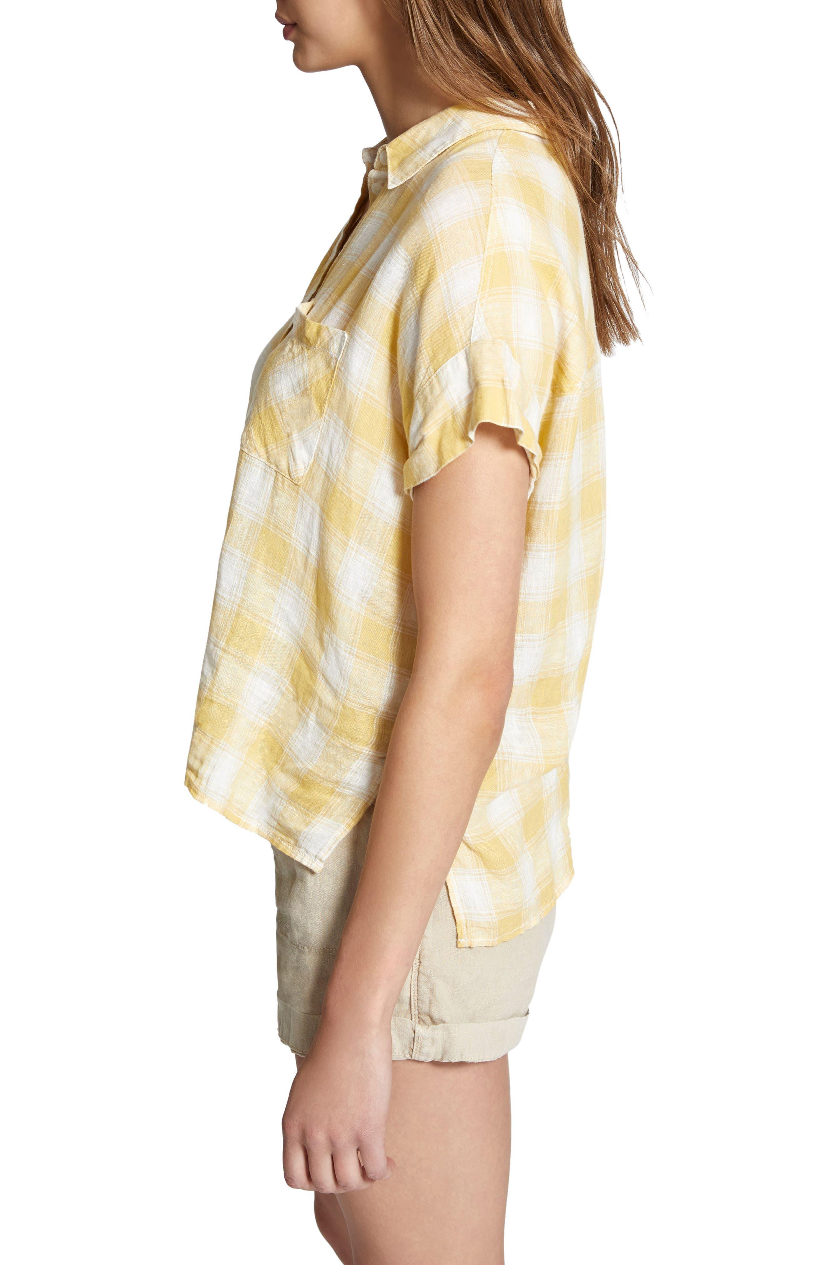 Mod Short Sleeve Boyfriend Shirt,                             Alternate thumbnail 19, color,