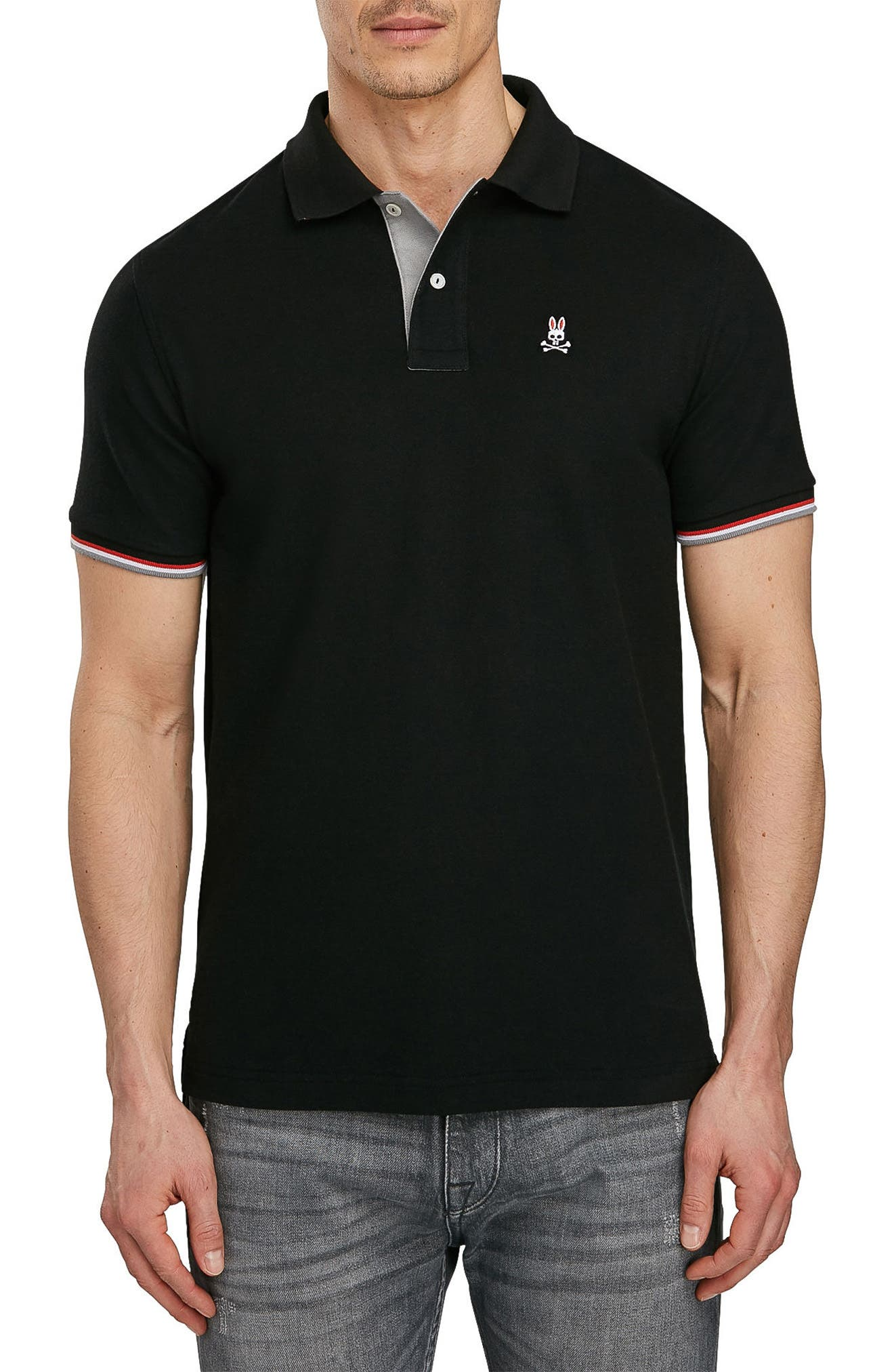 PSYCHO BUNNY St. Croix Polo, Main, color, 001