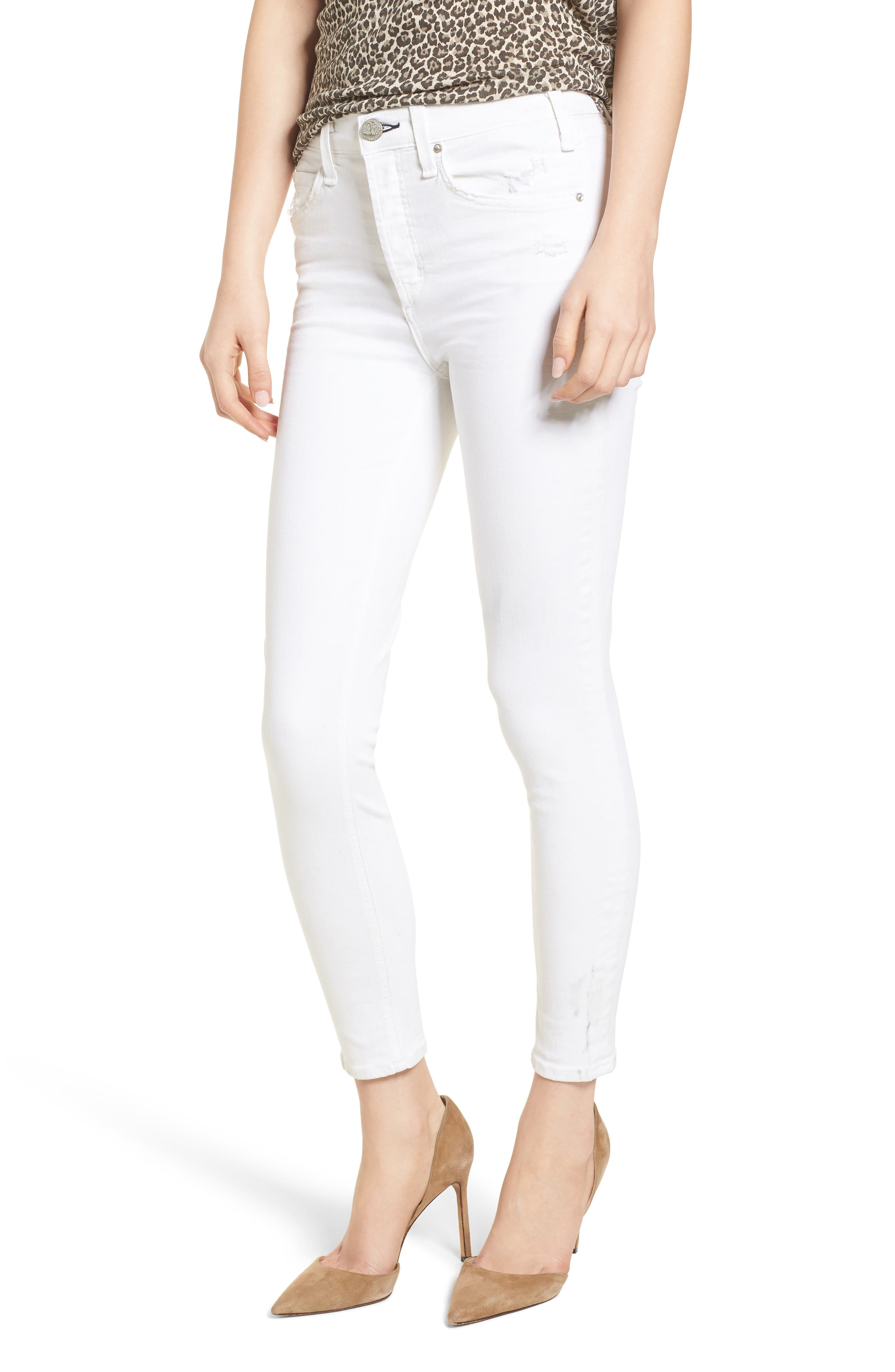 Newton Skinny Ankle Jeans,                         Main,                         color, 100