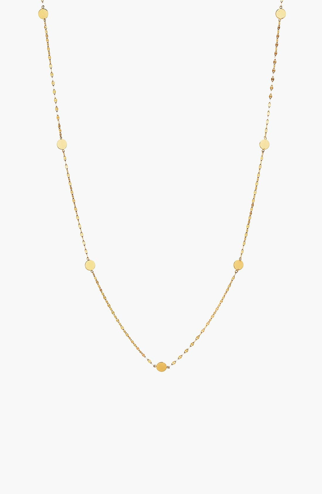 'Ombré' Disc Station Necklace,                             Main thumbnail 1, color,                             YELLOW GOLD