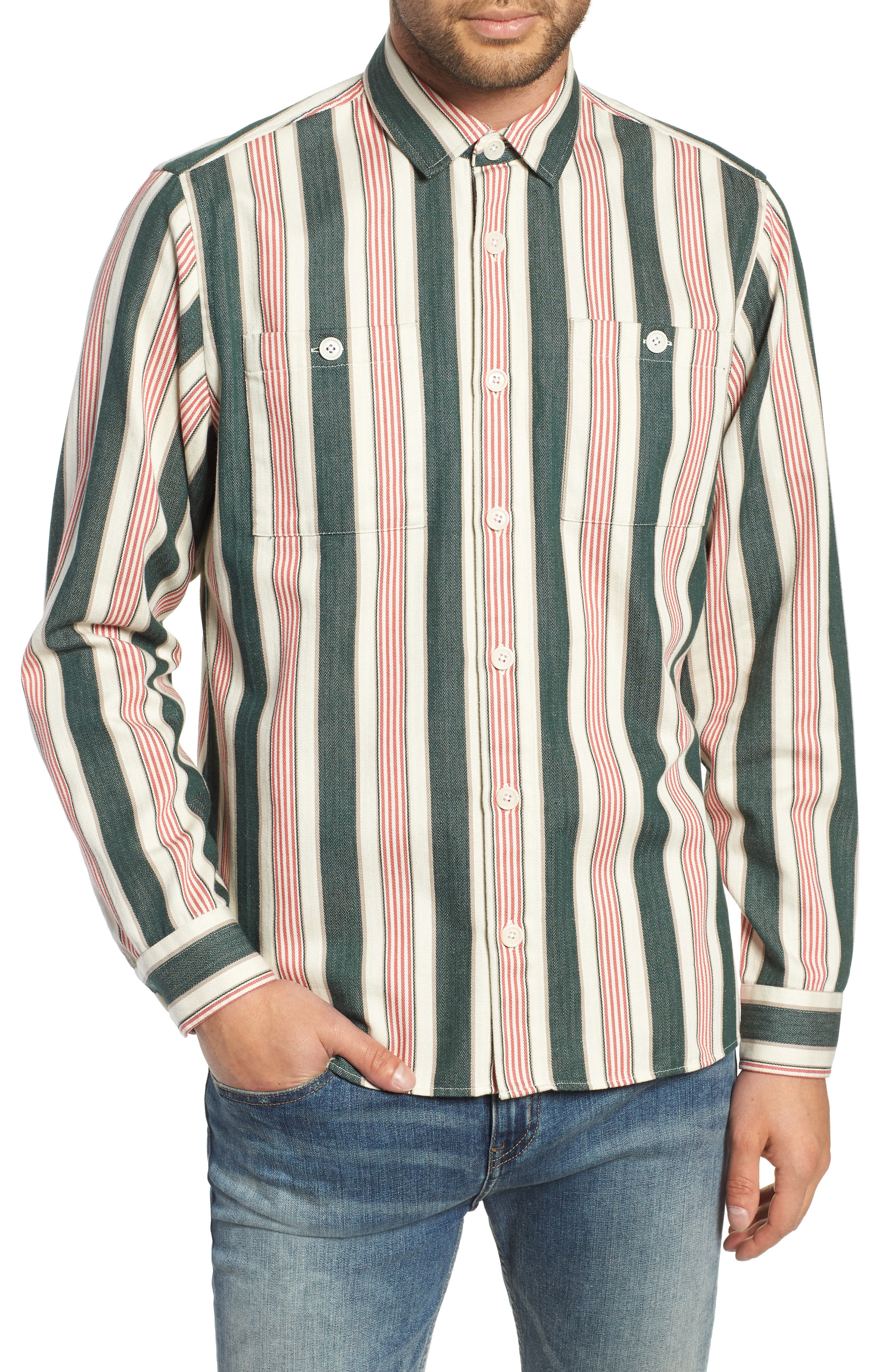 Whiting Woven Shirt,                             Main thumbnail 1, color,                             BEACH