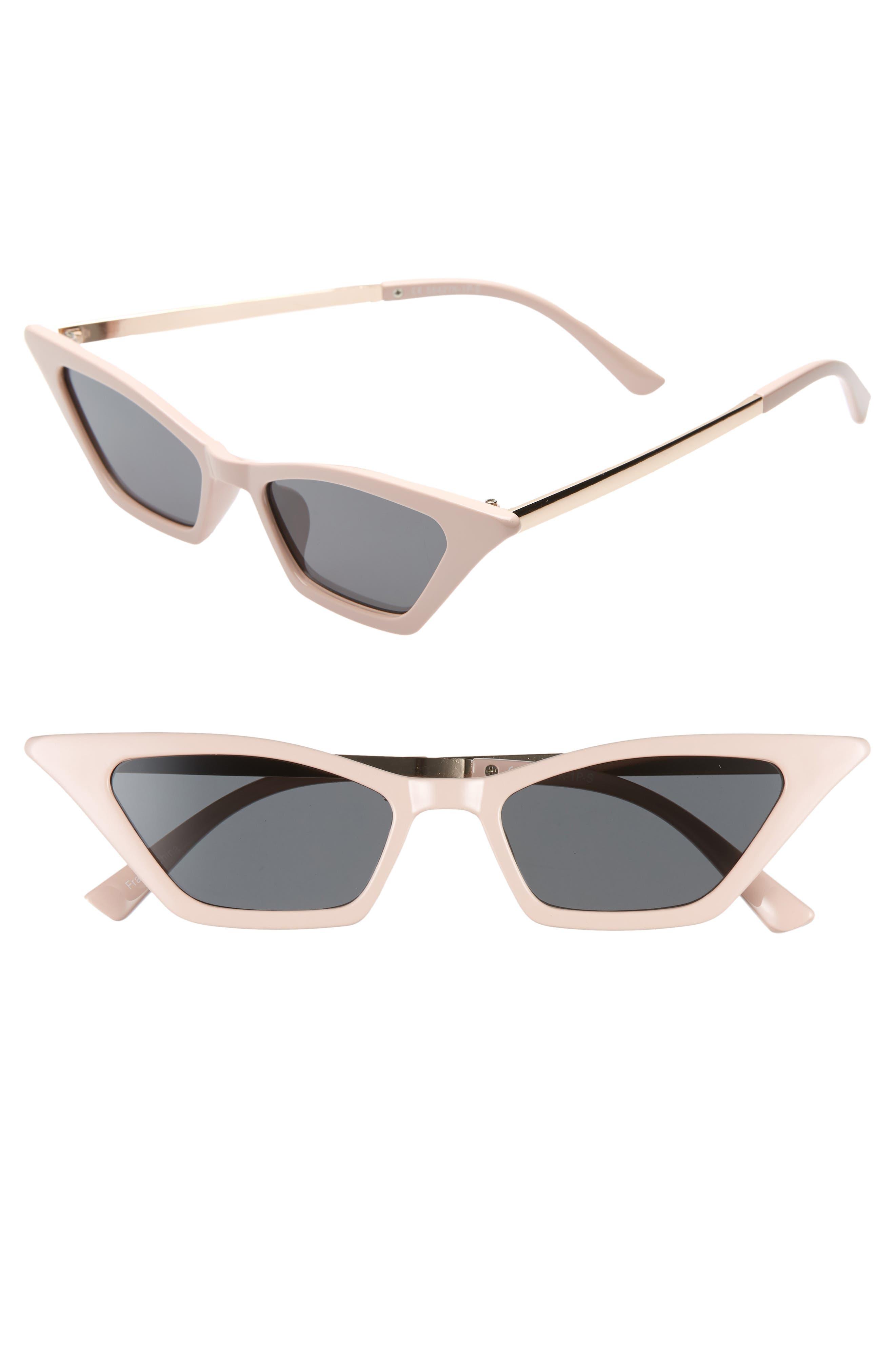 BP. 47mm Mini Cat Eye Sunglasses,                         Main,                         color, GOLD/ PINK