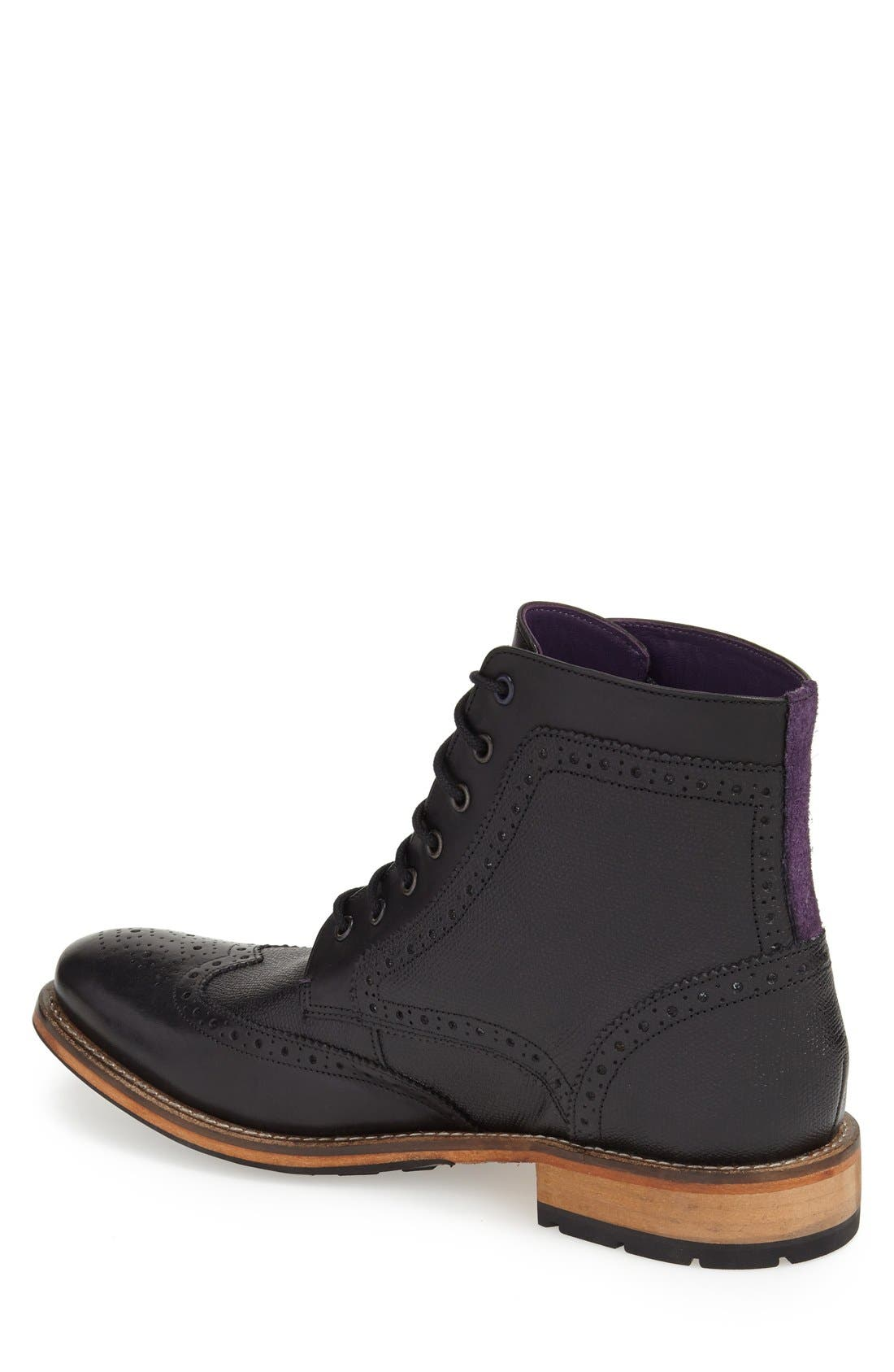 'Sealls 3' Wingtip Boot,                             Alternate thumbnail 2, color,                             001