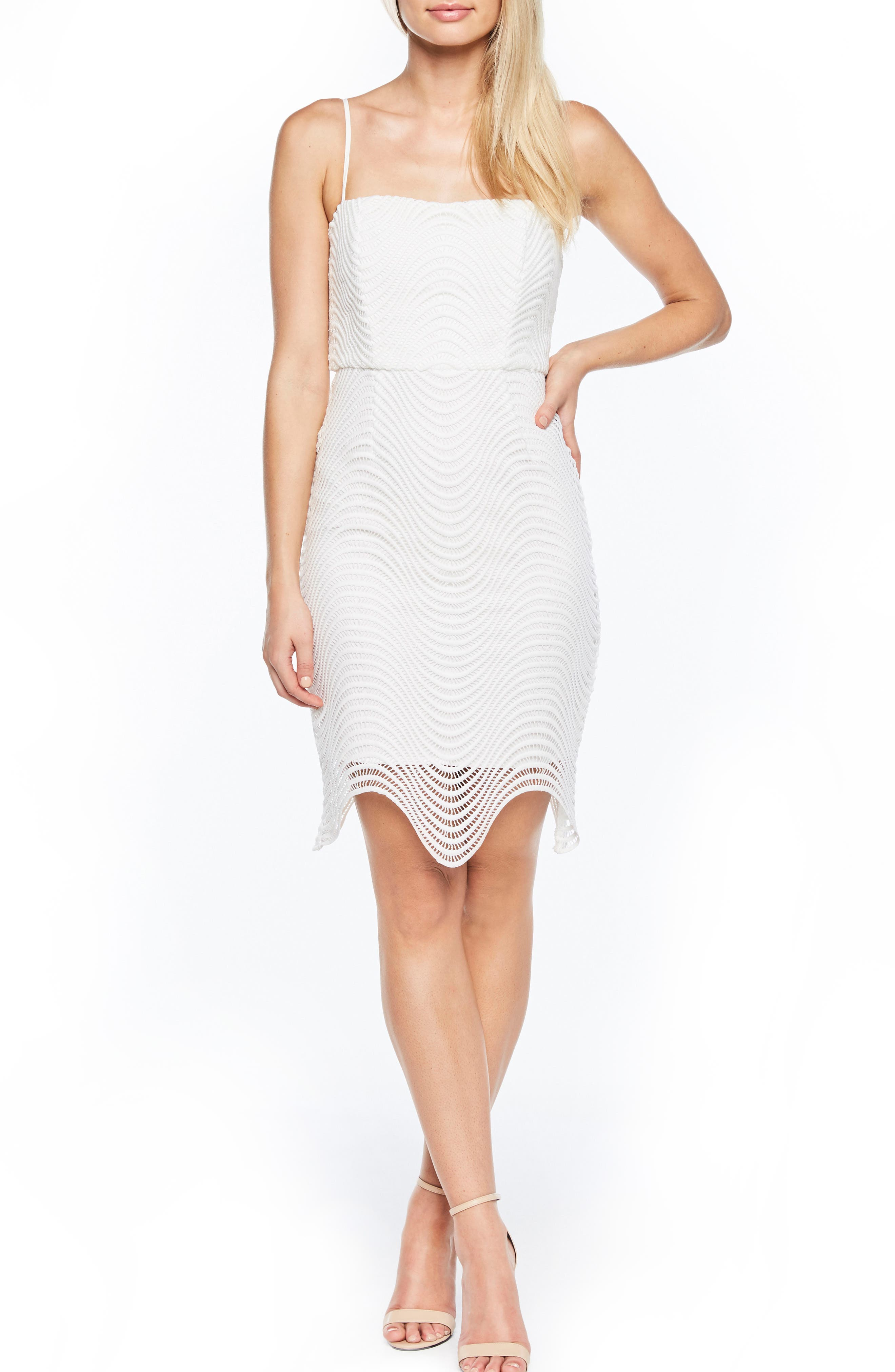 Spiral Lace Dress,                         Main,                         color, IVORY