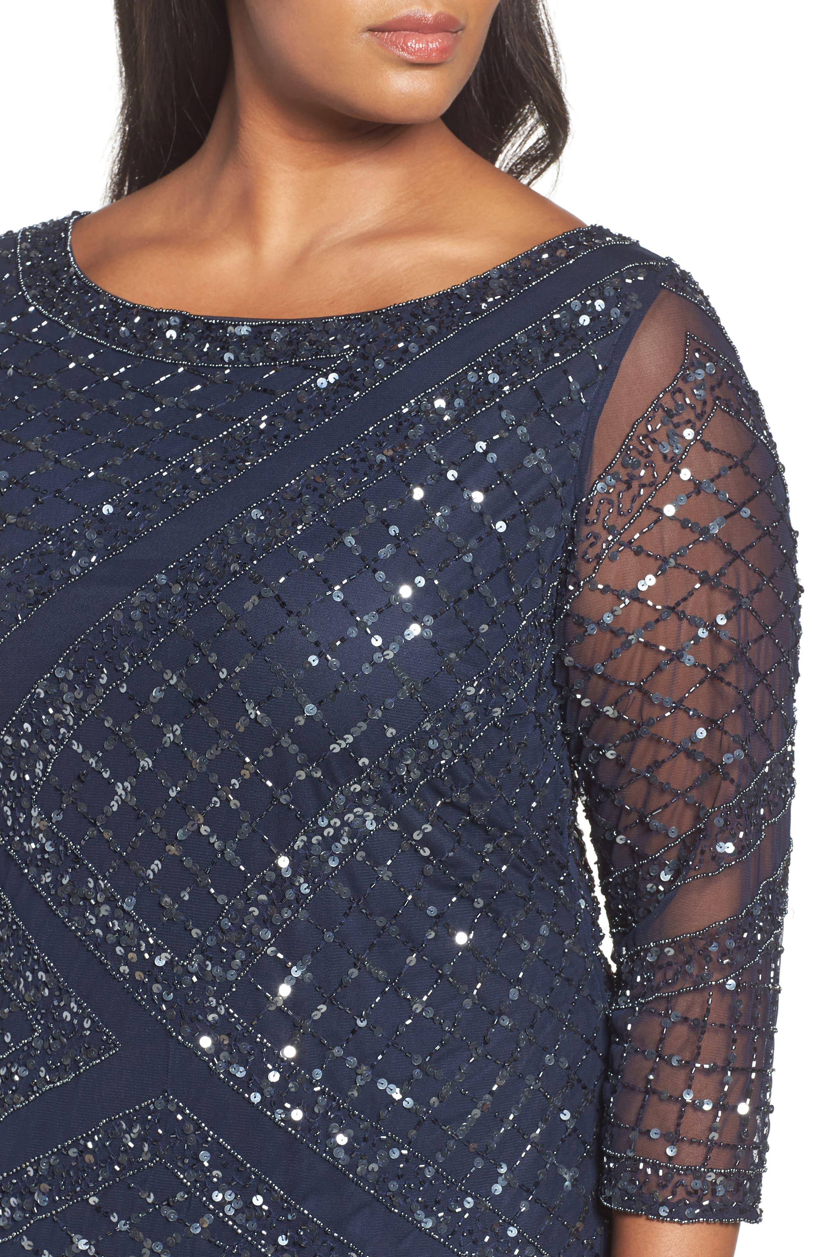 Embellished Cocktail Dress,                             Alternate thumbnail 8, color,