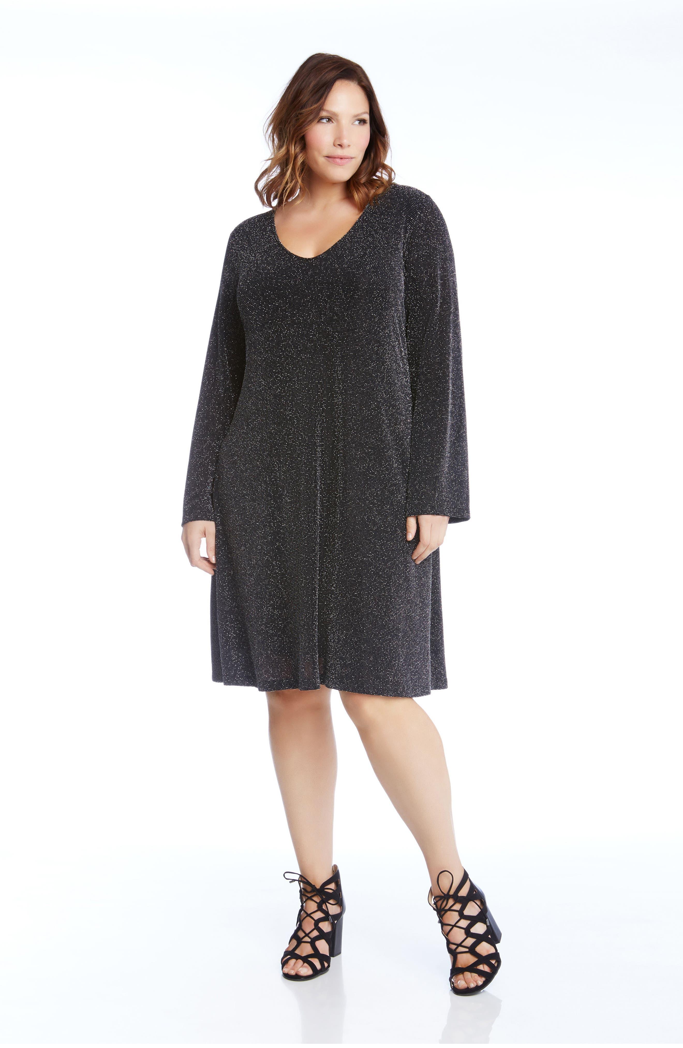 Taylor Sparkle Knit Dress,                             Alternate thumbnail 3, color,                             044