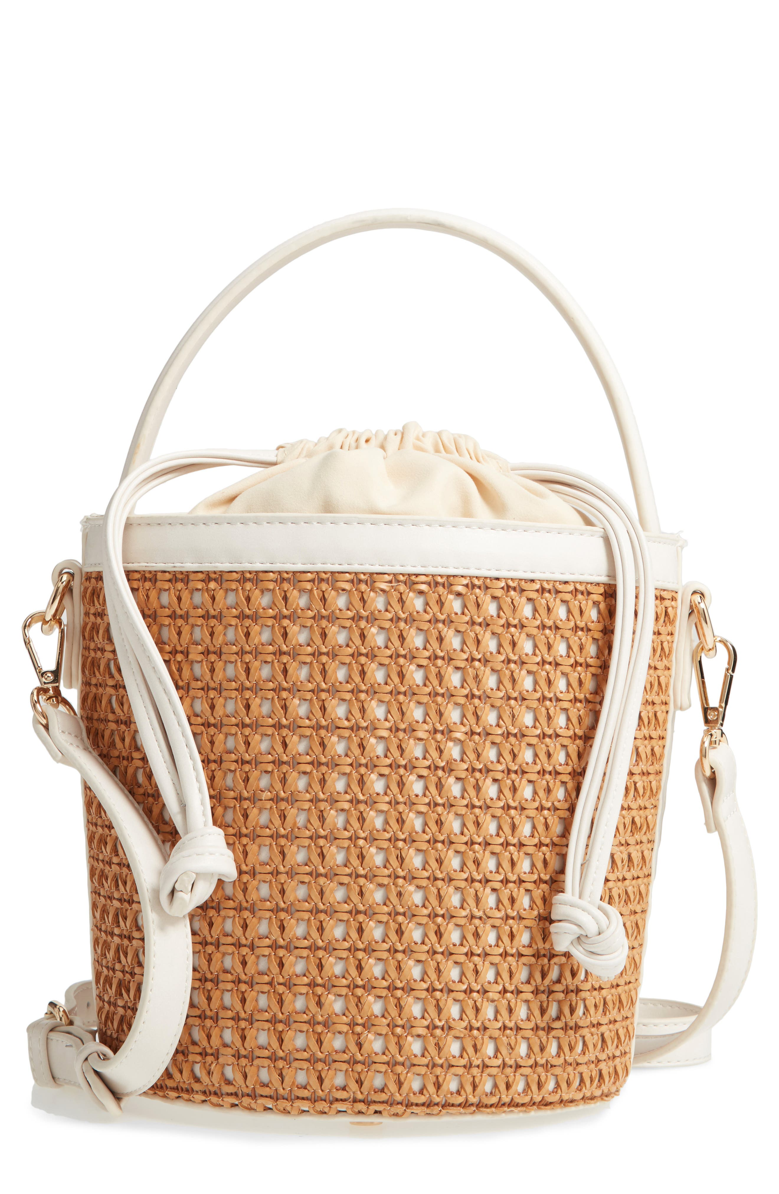 Nikole Woven Bucket Bag by Sole Society