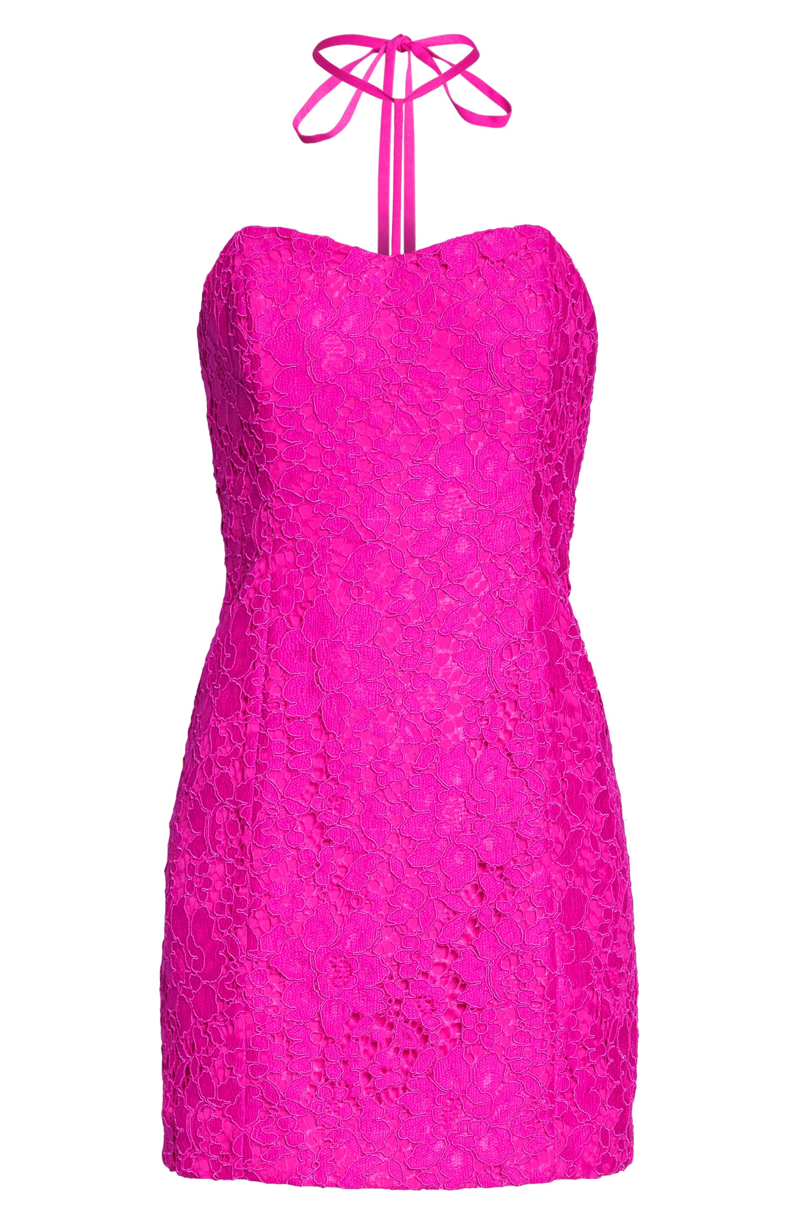 Demi Lace Dress,                             Alternate thumbnail 9, color,                             BERRY SANGRIA FLORAL LACE