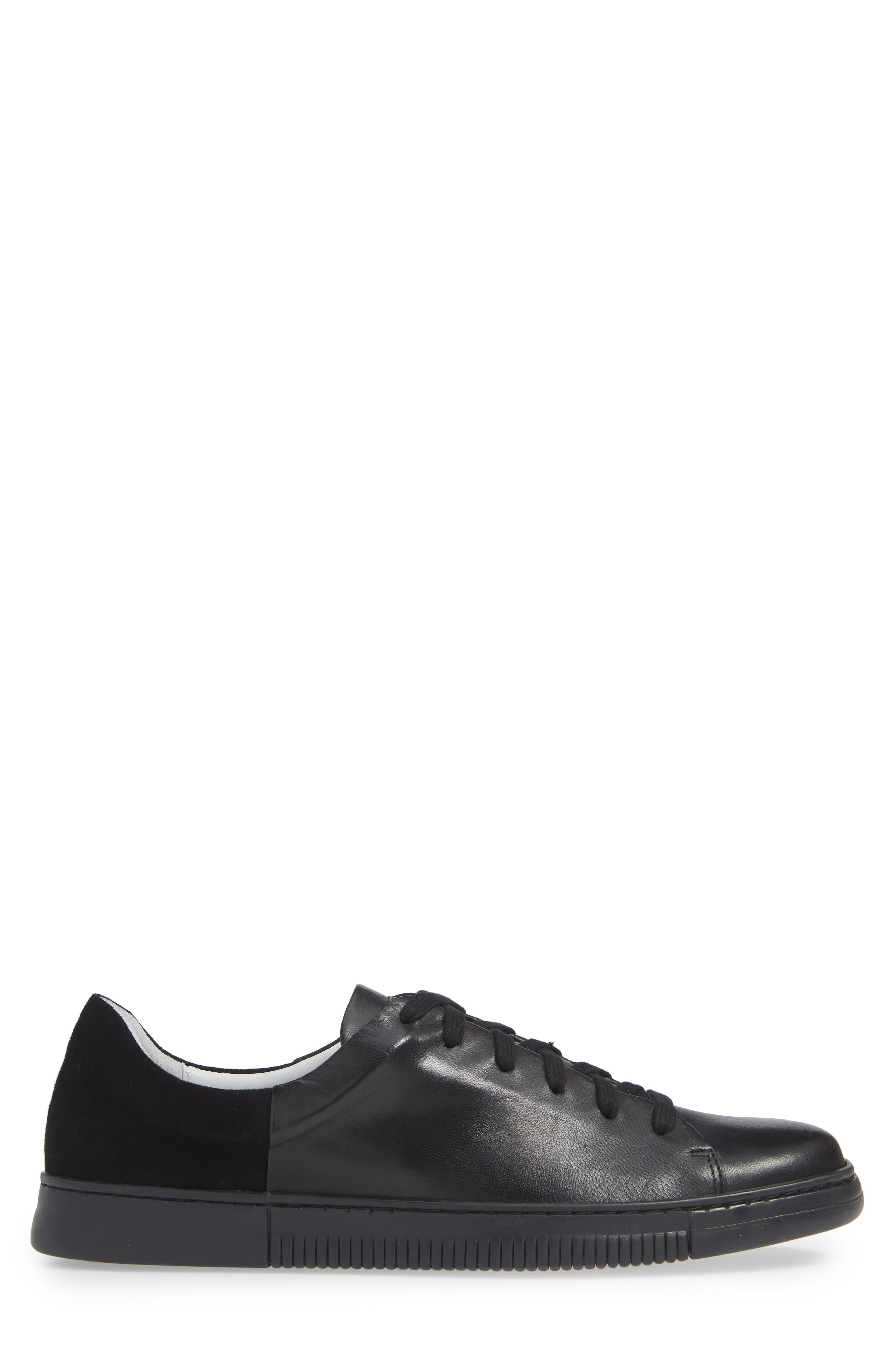 VINCE CAMUTO,                             Jito Sneaker,                             Alternate thumbnail 3, color,                             BLACK LEATHER