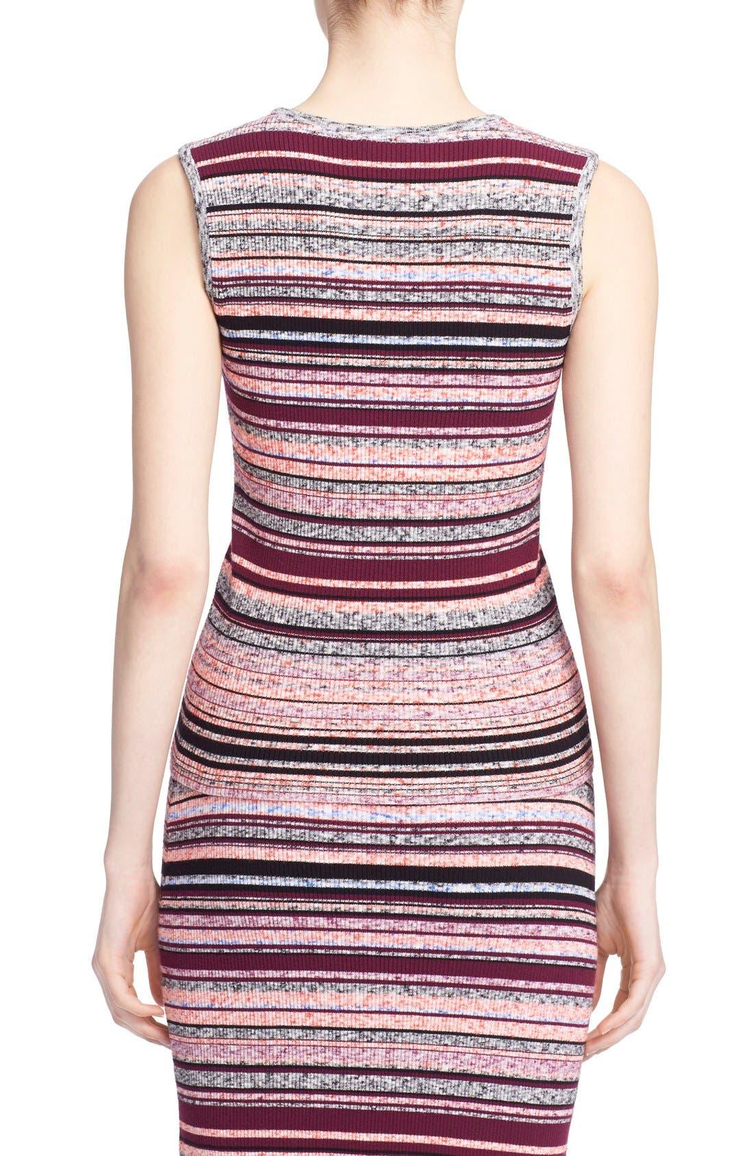 'Ash' Stripe Sleeveless Ribbed Top,                             Alternate thumbnail 6, color,                             930