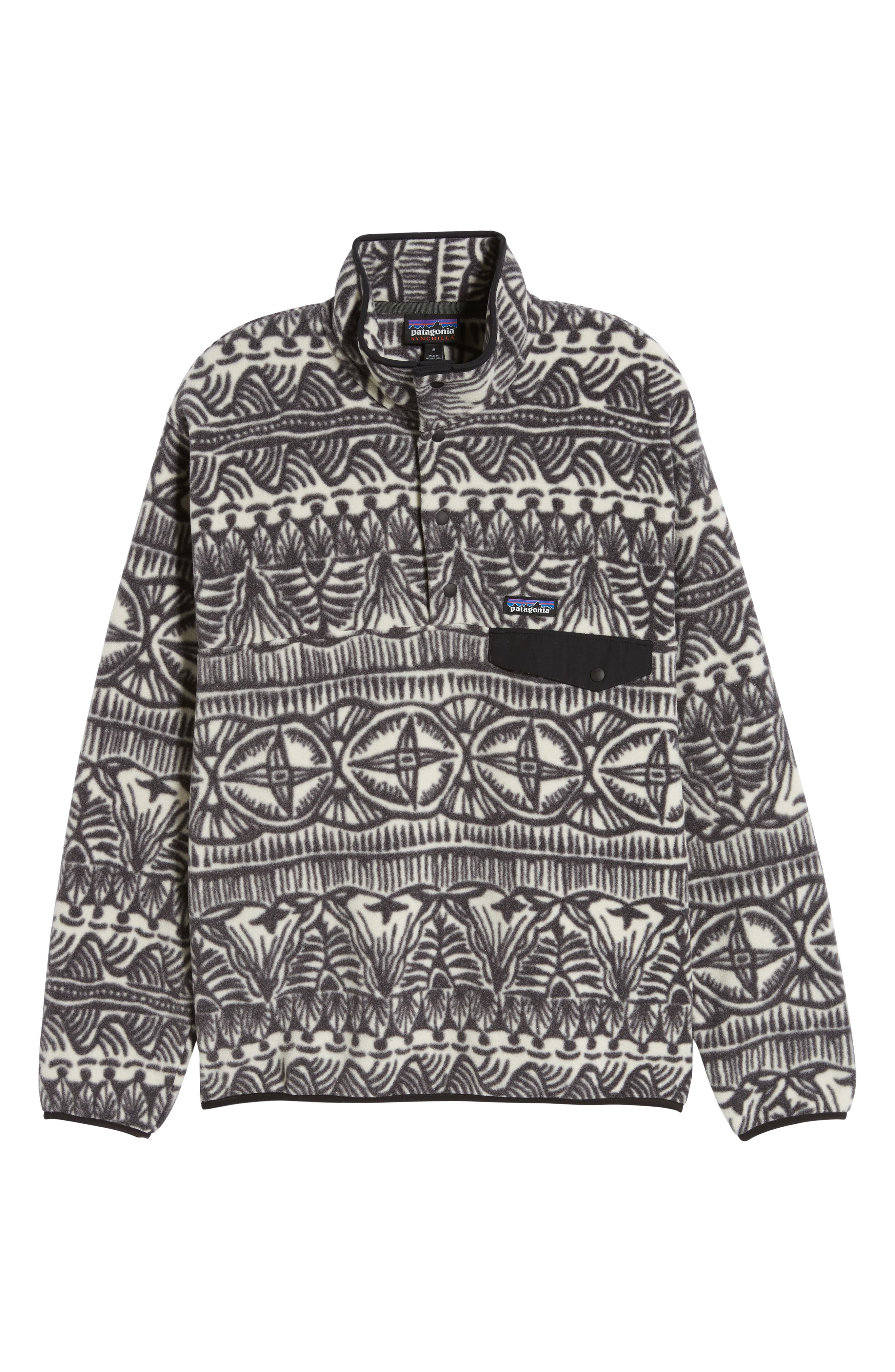 Synchilla<sup>®</sup> Snap-T<sup>®</sup> Fleece Pullover,                             Alternate thumbnail 6, color,                             TRADEWINDS BIG INK BLACK