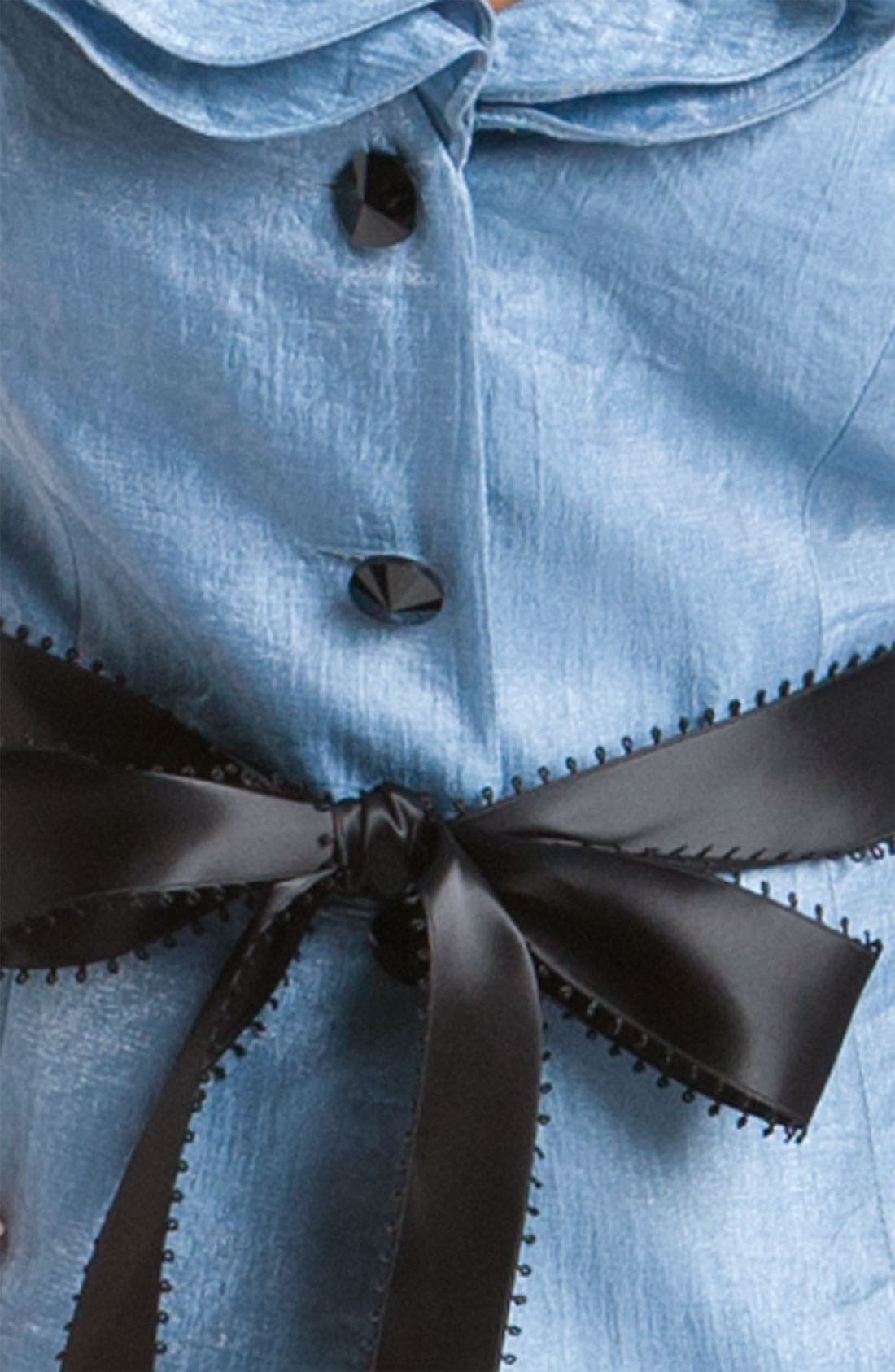 Shimmer Crepe Jacket,                             Alternate thumbnail 6, color,