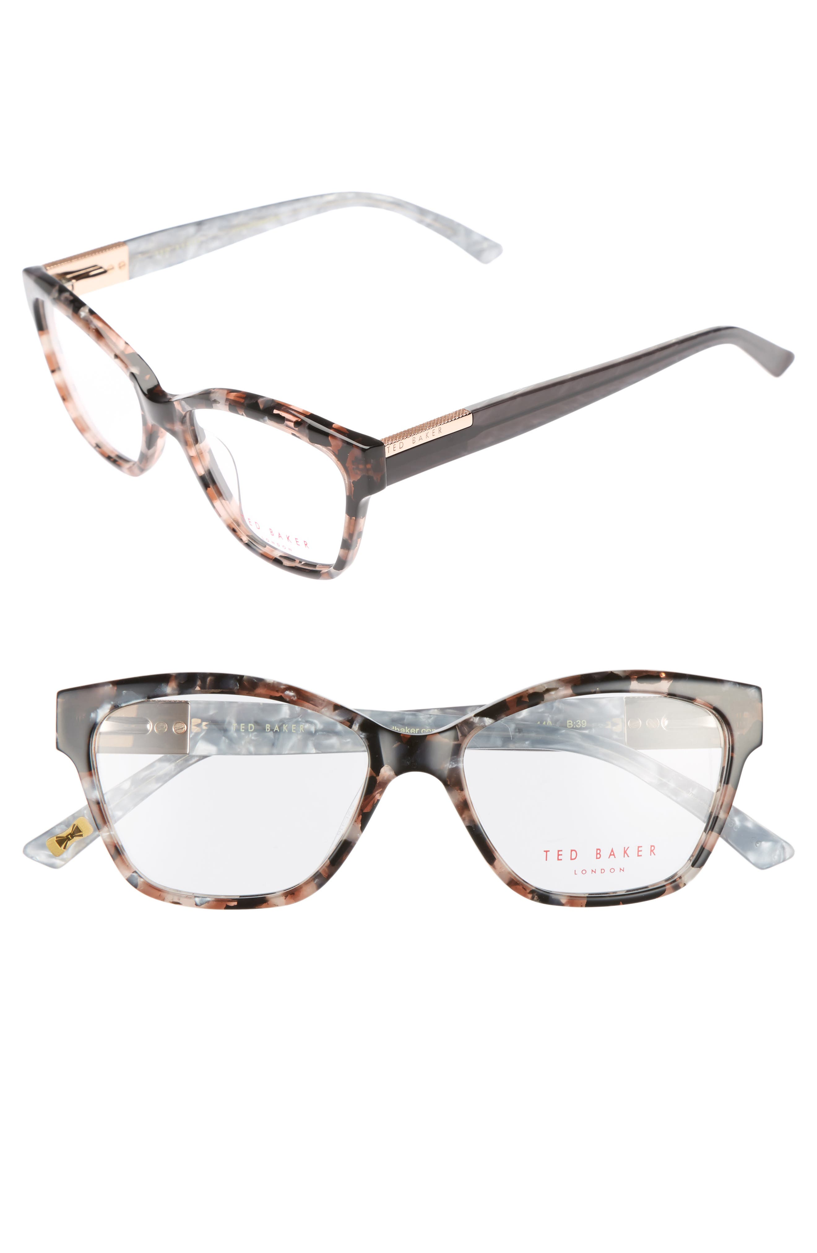 52mm Optical Cat Eye Glasses,                             Main thumbnail 1, color,                             650