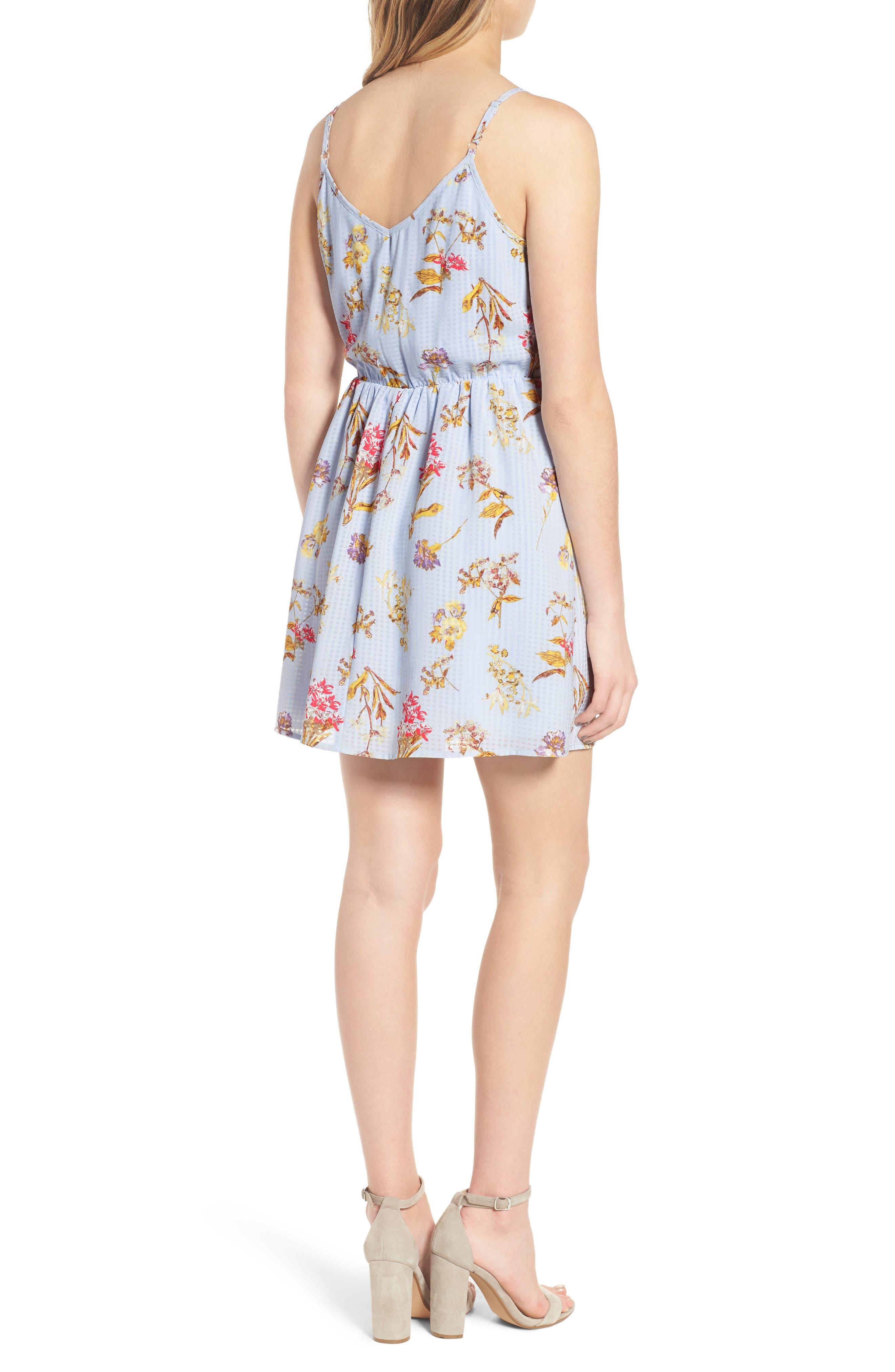 Floral Tie Front Dress,                             Alternate thumbnail 2, color,                             400