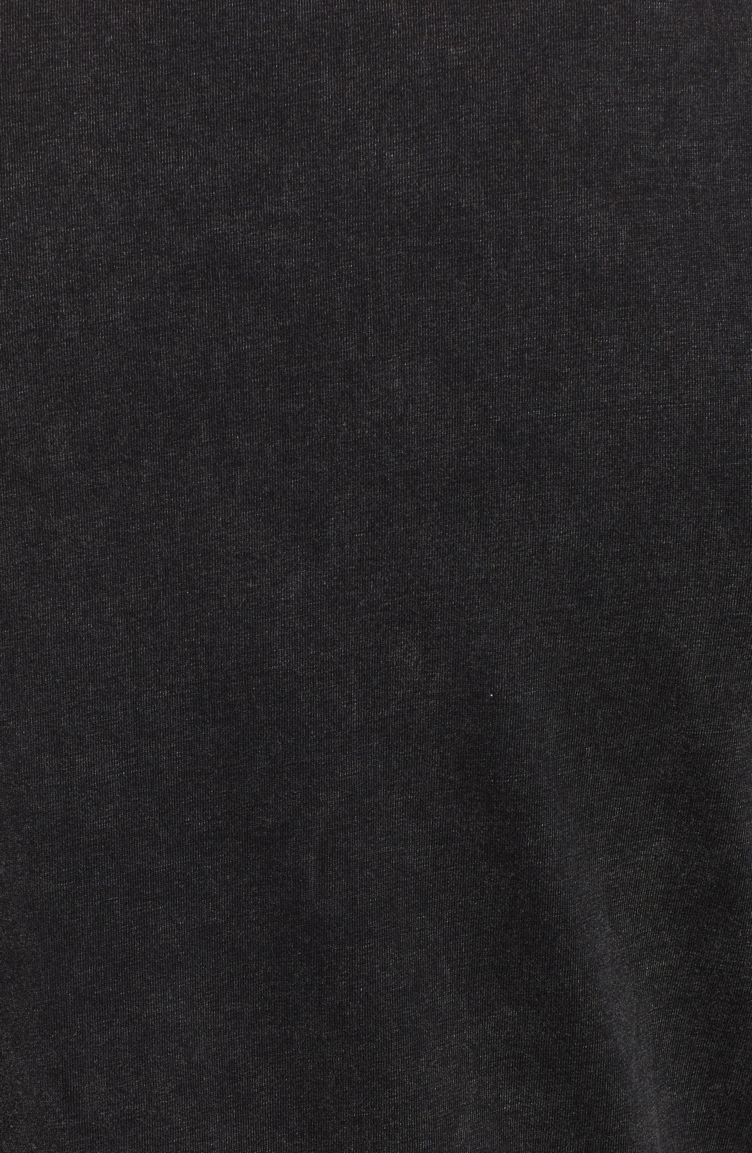 Double-F Logo Acid Wash T-Shirt,                             Alternate thumbnail 5, color,                             JET BLACK ACID WASH
