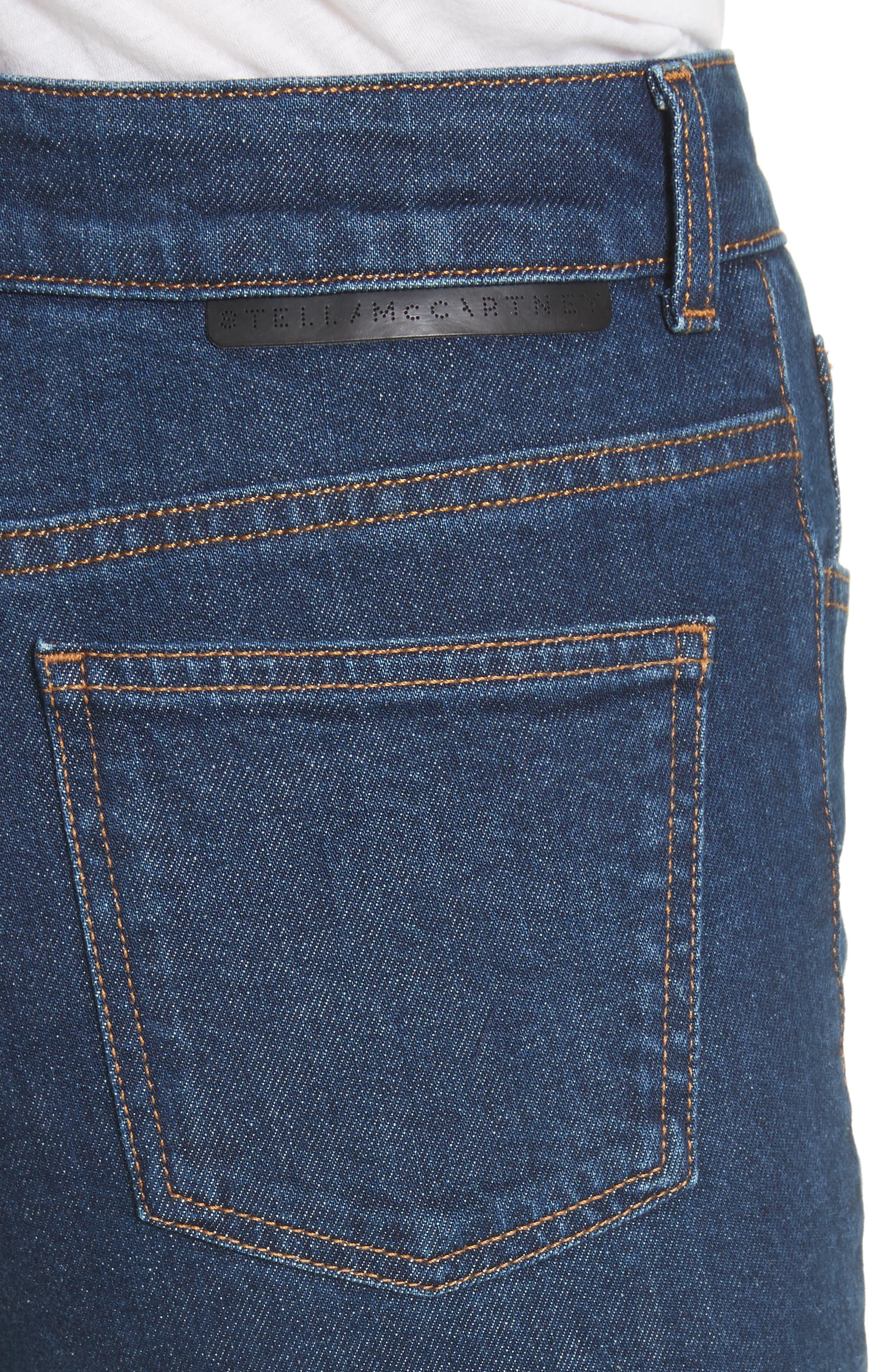 Crop Skinny Jeans,                             Alternate thumbnail 4, color,                             465
