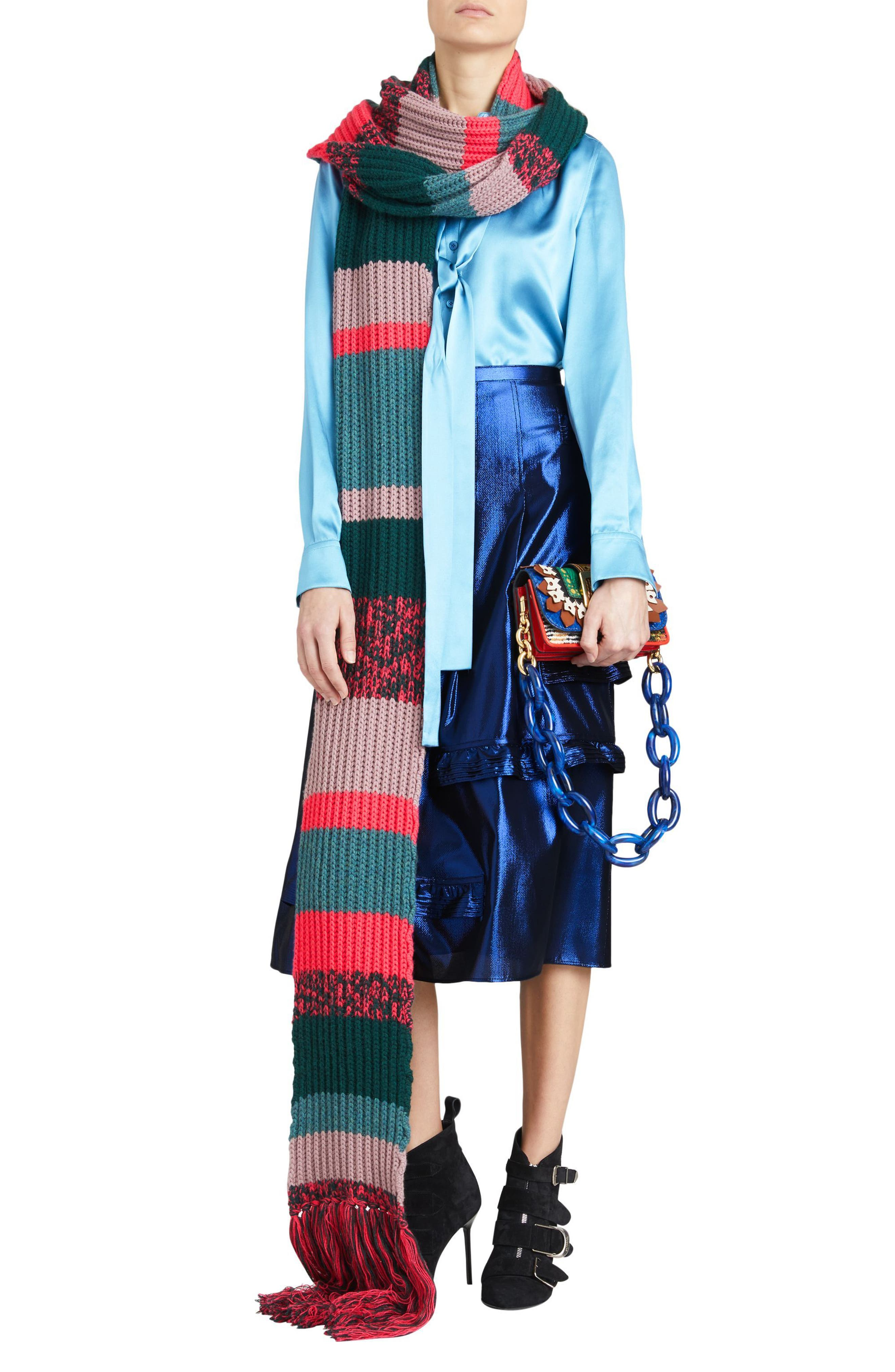Merse Metallic Ruffle Skirt,                             Alternate thumbnail 7, color,                             410