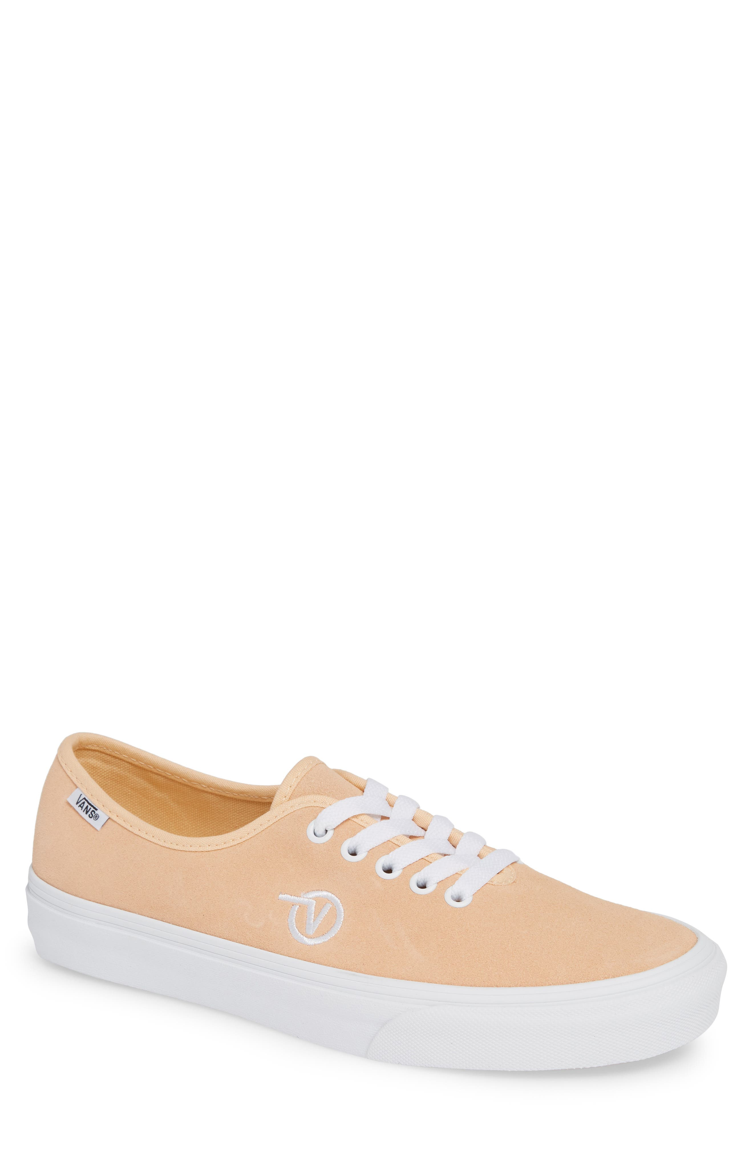 Authentic One-Piece Sneaker,                         Main,                         color, BLEACHED APRICOT/ SUEDE