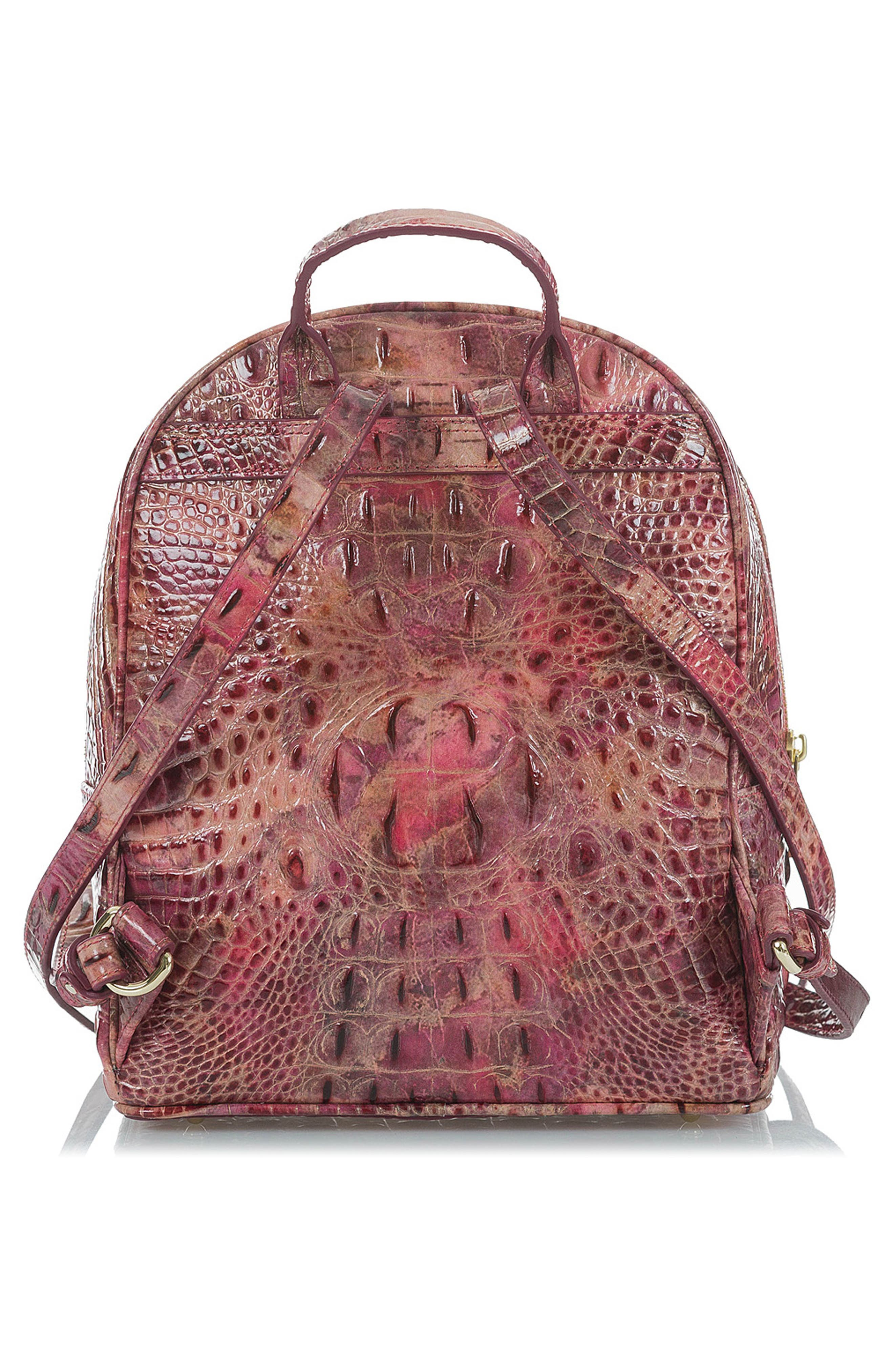 Mini Dartmouth Leather Backpack,                             Alternate thumbnail 3, color,                             WISTERIA