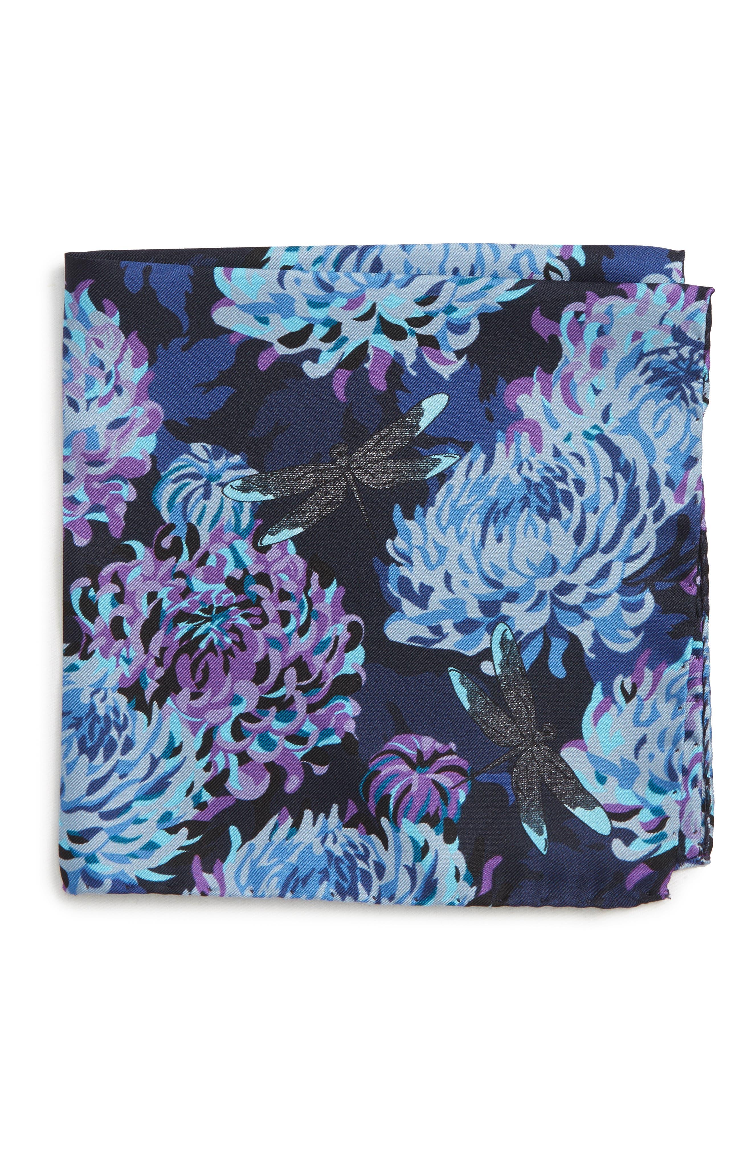 Crane Silk Pocket Square,                         Main,                         color, 400