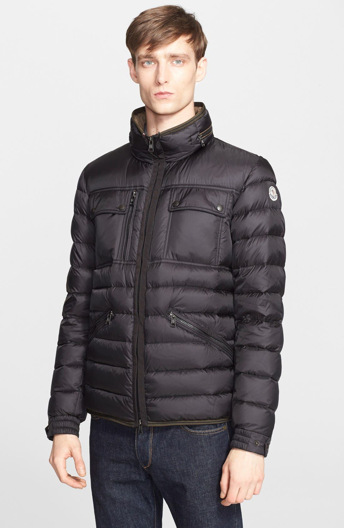 'Norbert' Quilted Down Jacket, Main, color, 001