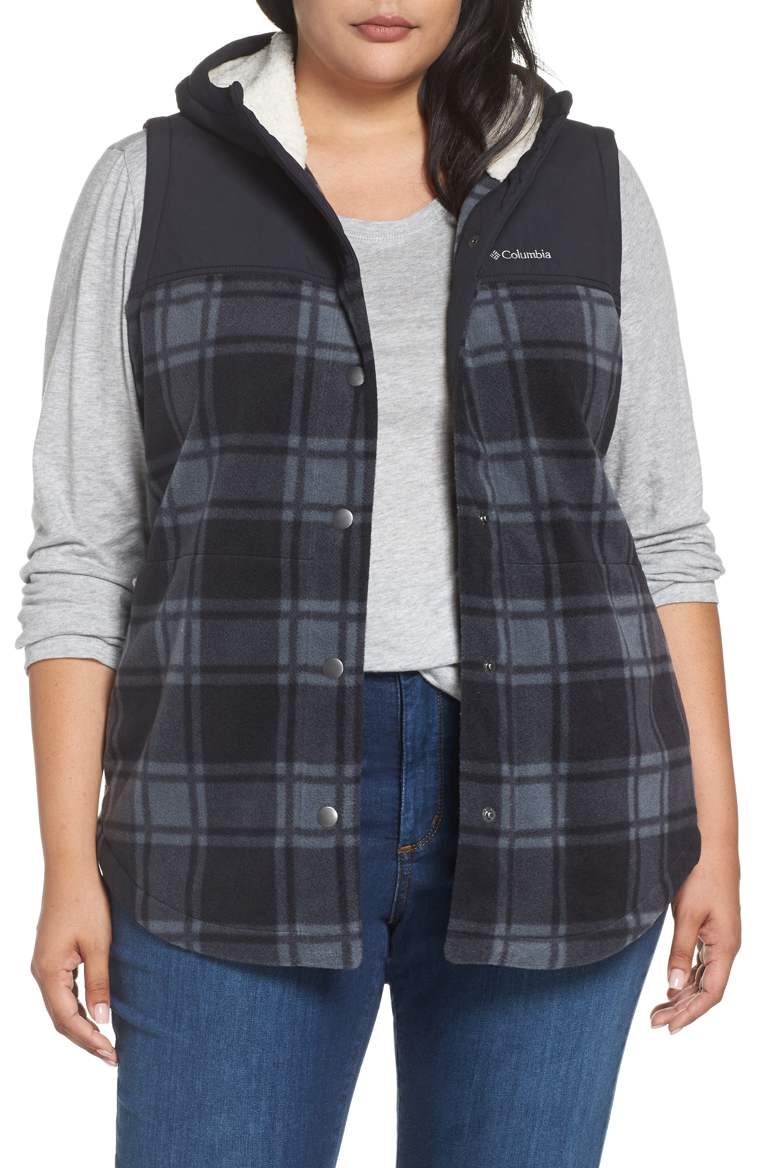 Plus Size Columbia Benton Springs Overlay Vest, Black