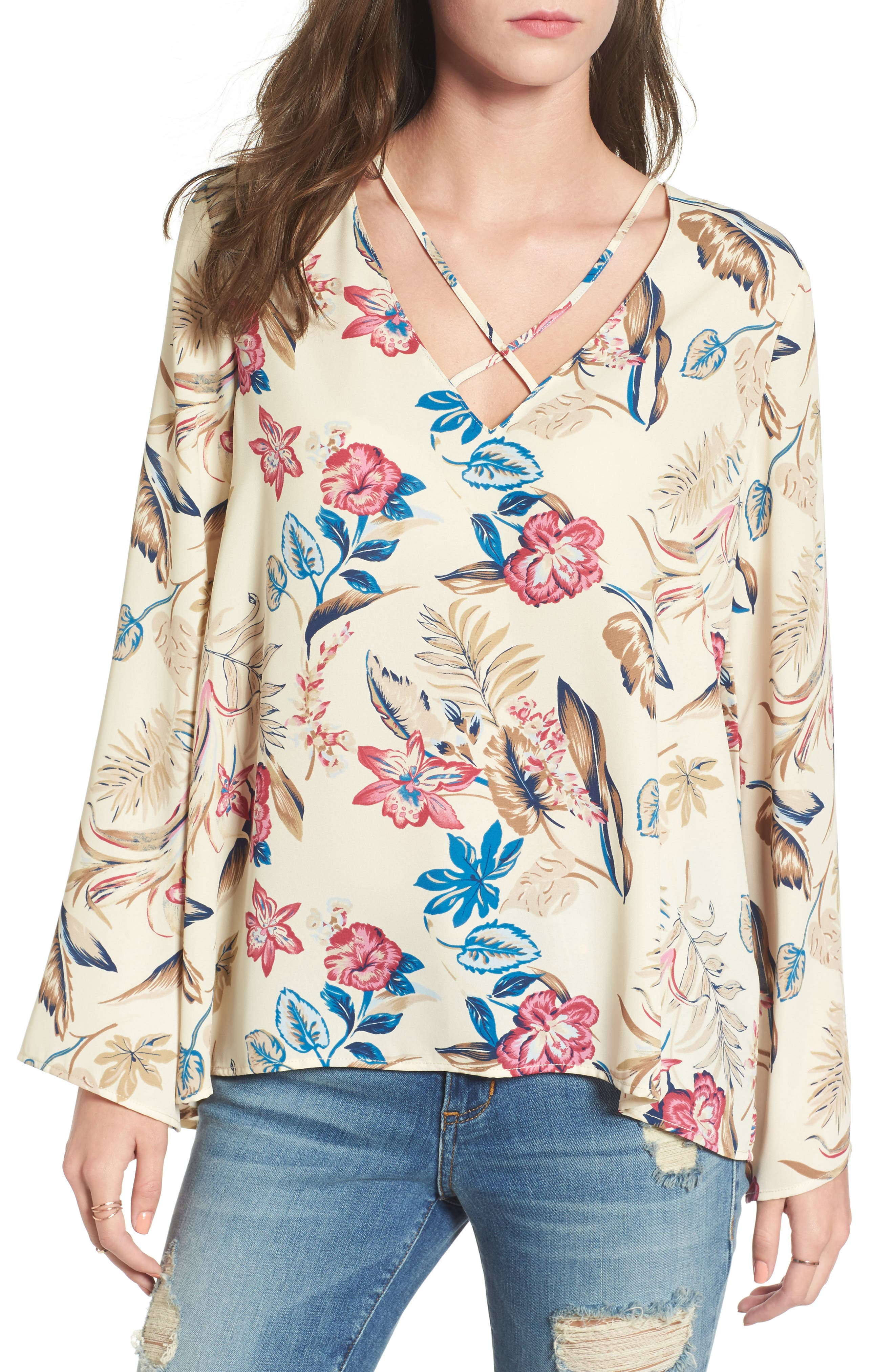 Cross Front Blouse,                             Main thumbnail 1, color,                             375