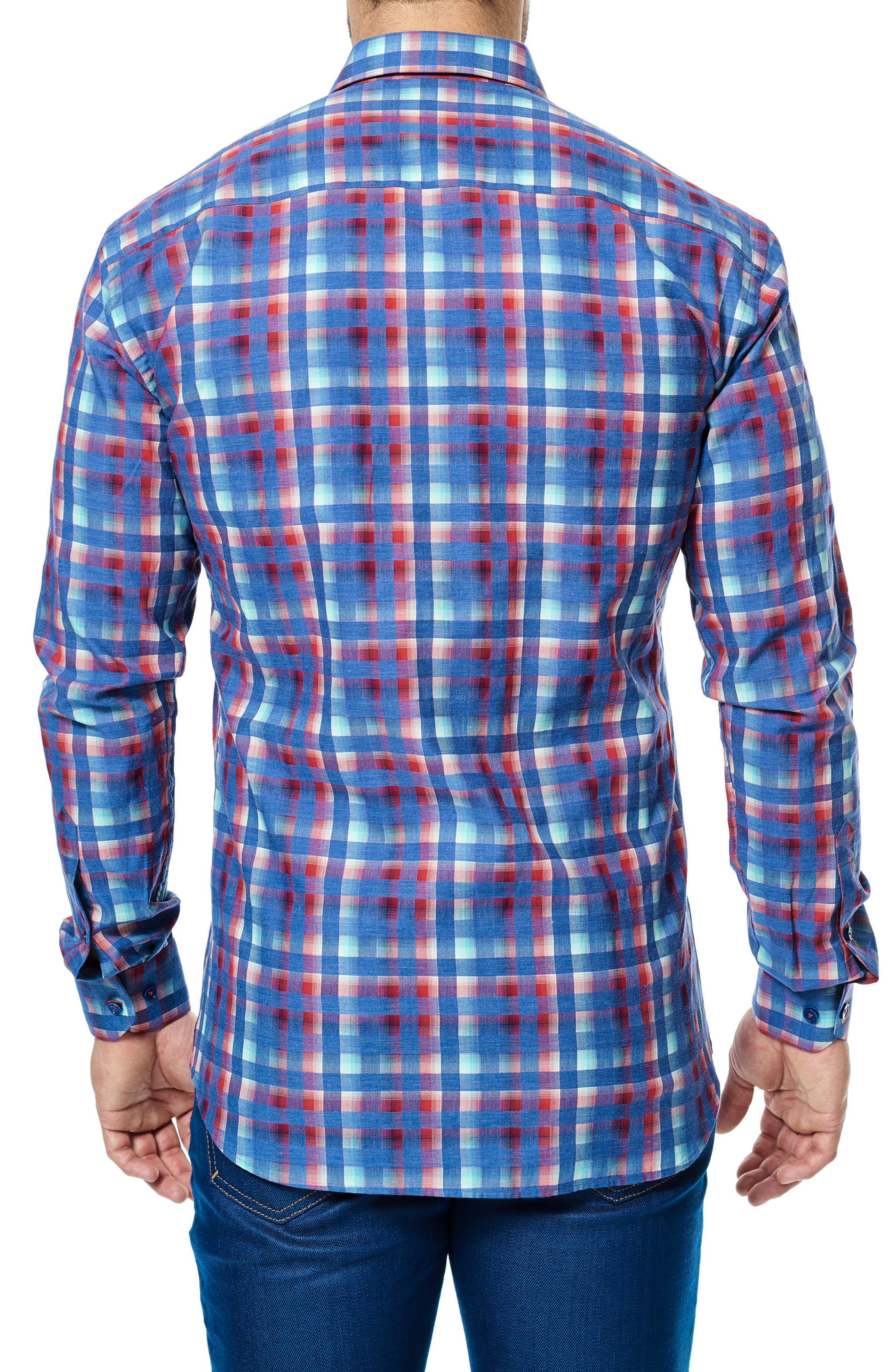 Luxor Check Sport Shirt,                             Alternate thumbnail 2, color,                             420