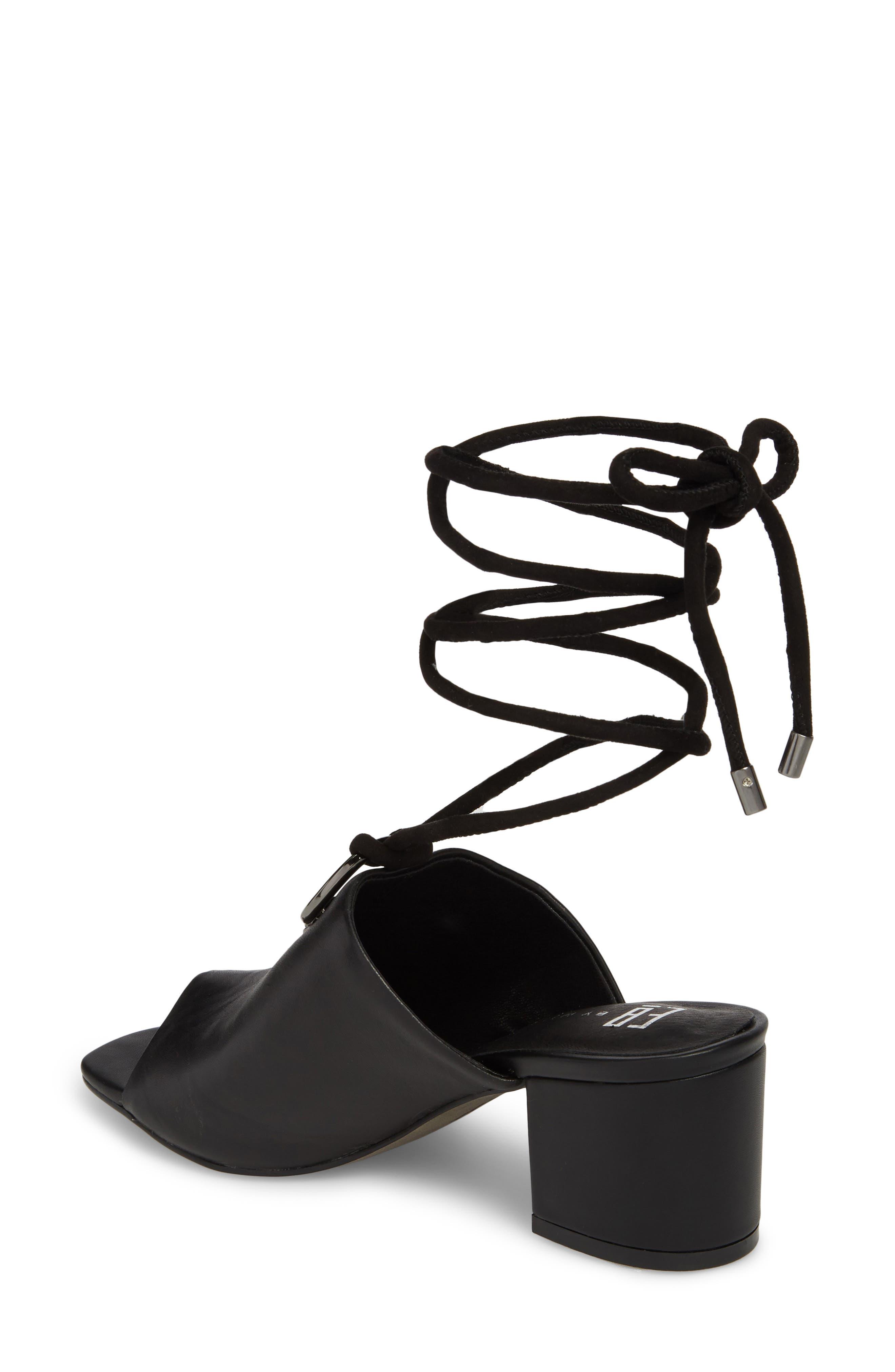 Mason Ankle Tie Sandal,                             Alternate thumbnail 2, color,                             BLACK LEATHER