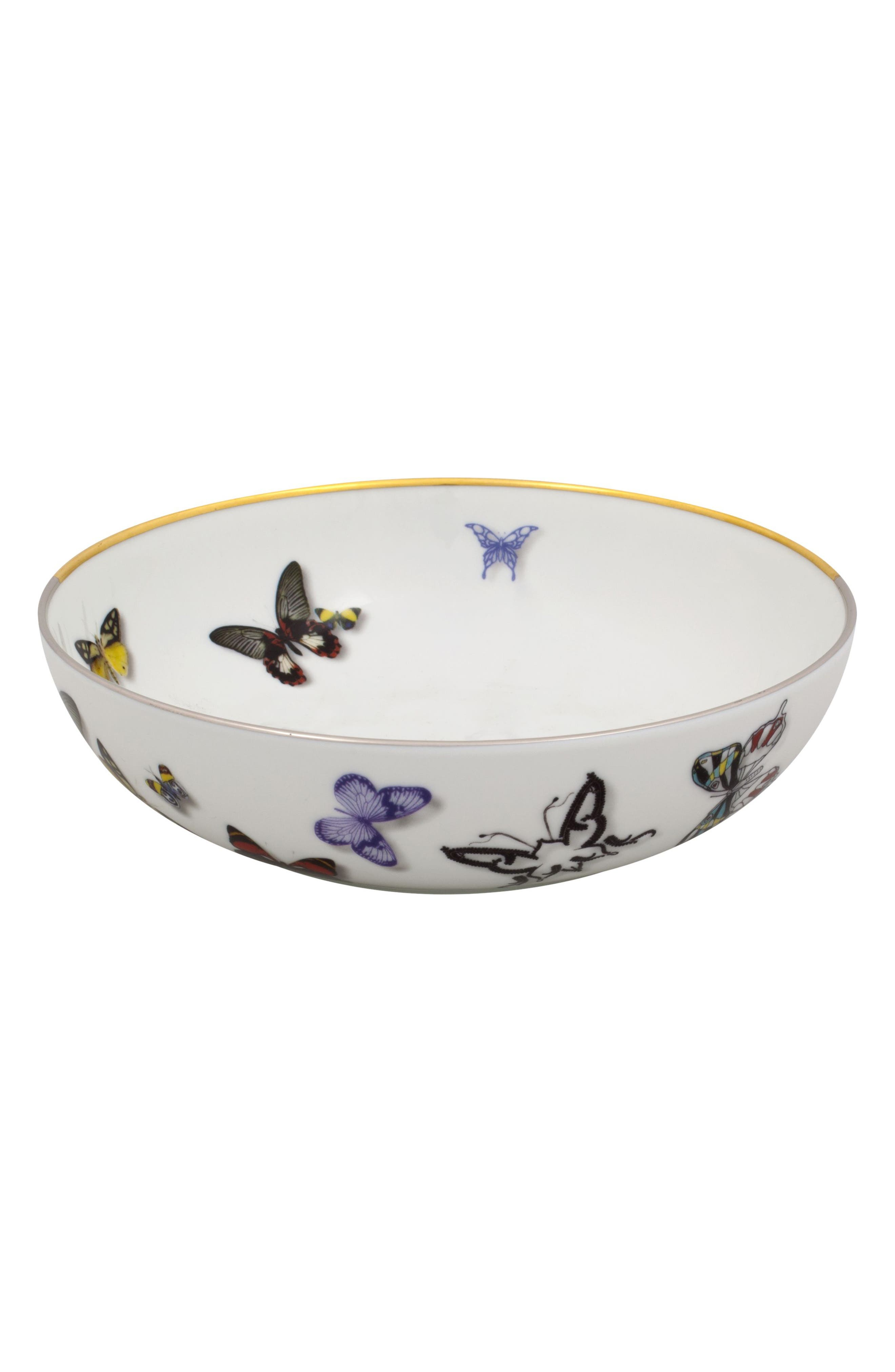 Butterfly 4-Piece Place Setting,                             Alternate thumbnail 3, color,                             WHITE