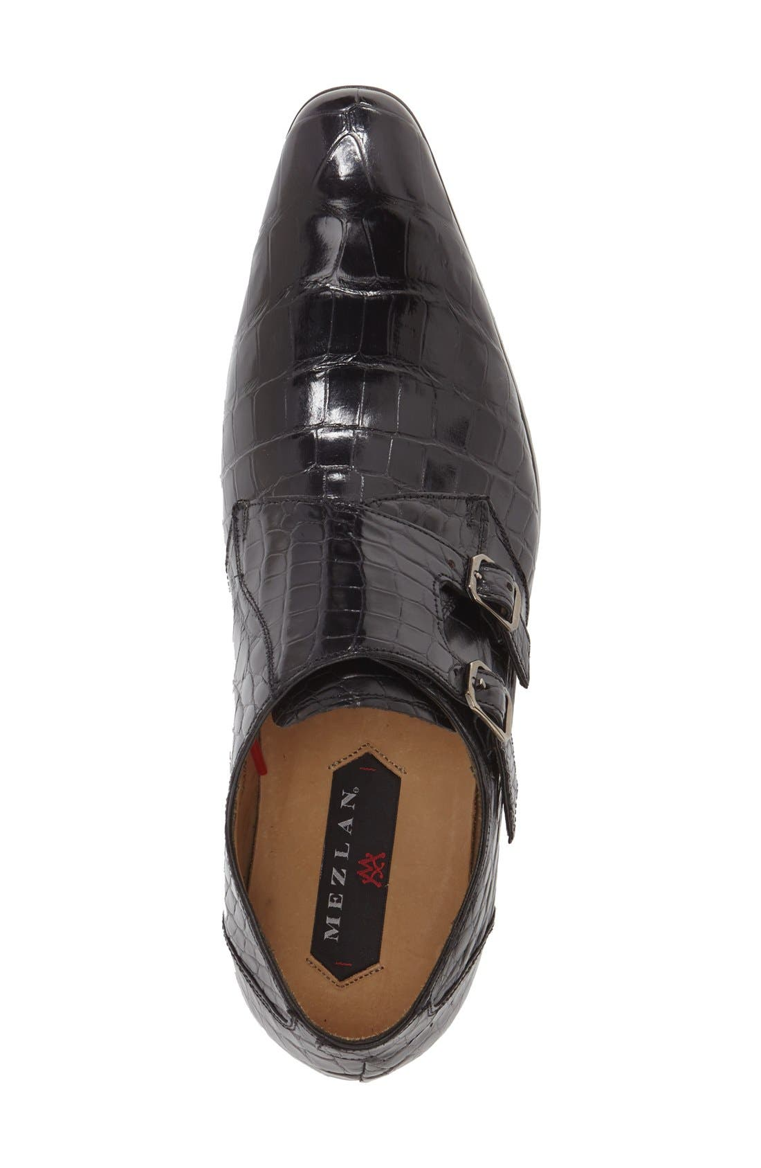 'Agra' Double Monk Strap Shoe,                             Alternate thumbnail 5, color,