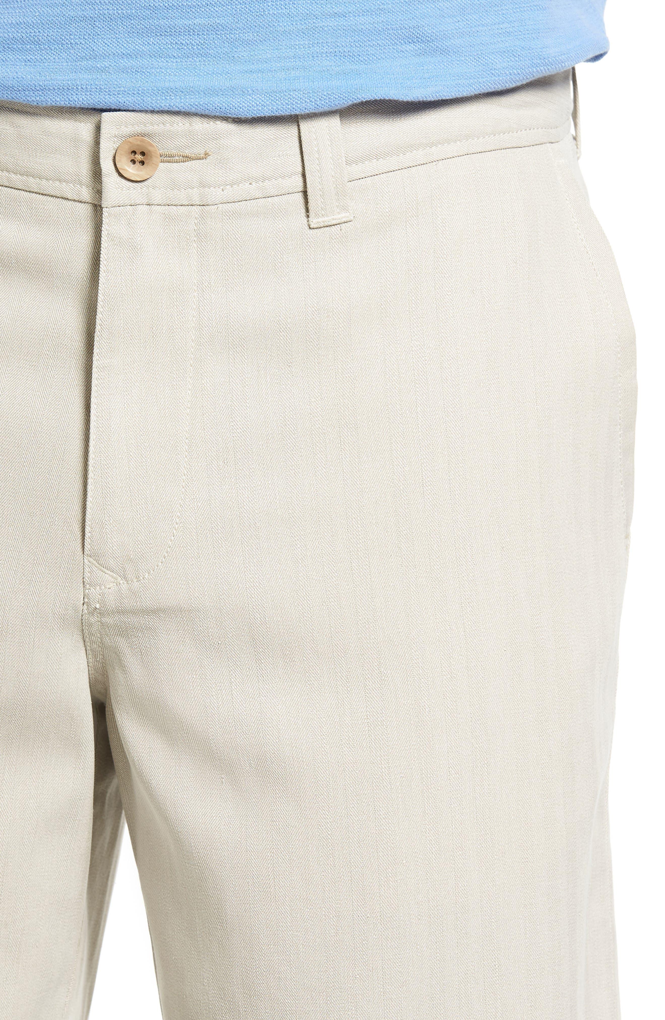 Havana Herringbone Silk Blend Chino Shorts,                             Alternate thumbnail 4, color,                             200