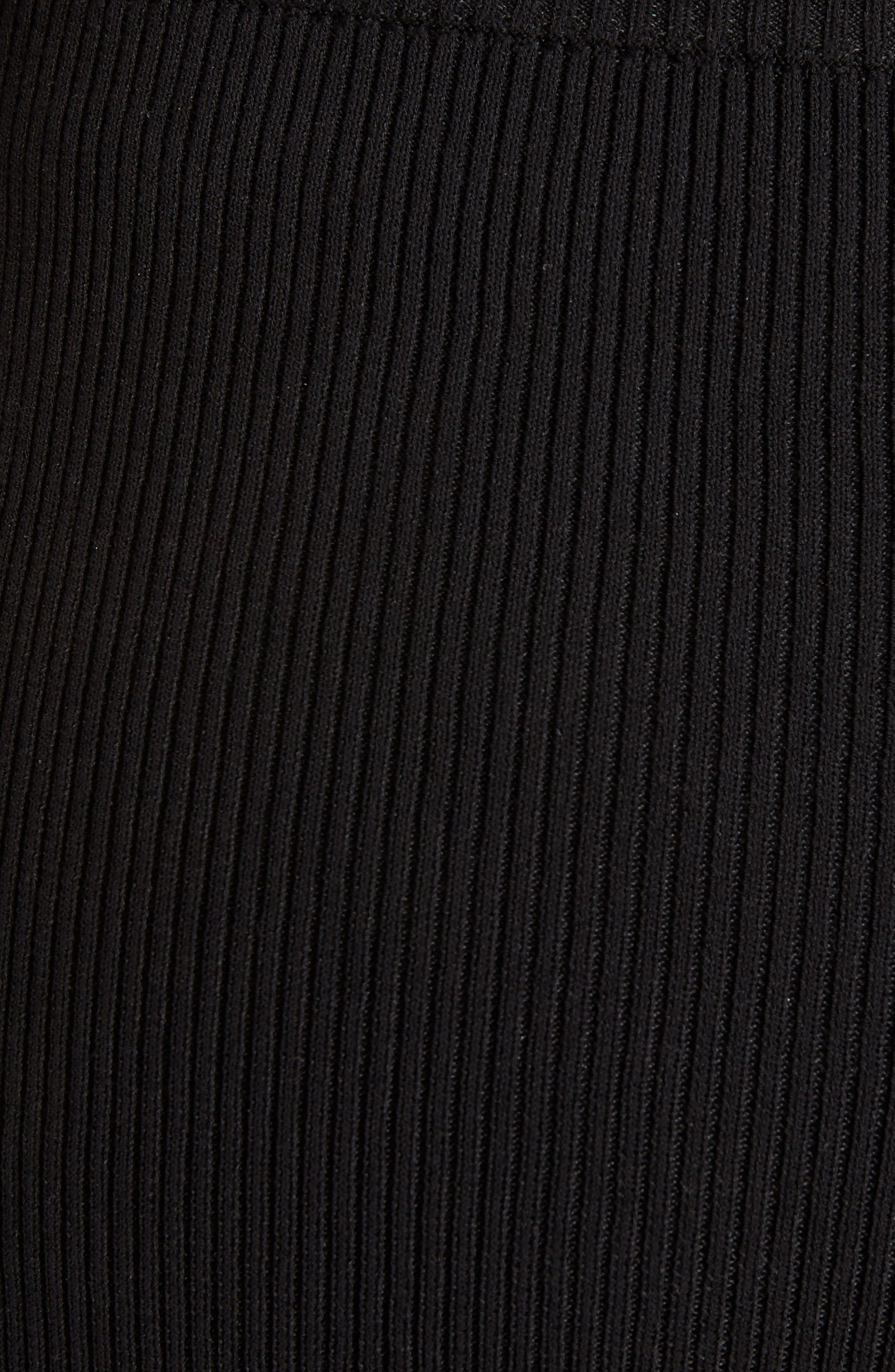 Stretch Knit Midi Skirt,                             Alternate thumbnail 5, color,                             001