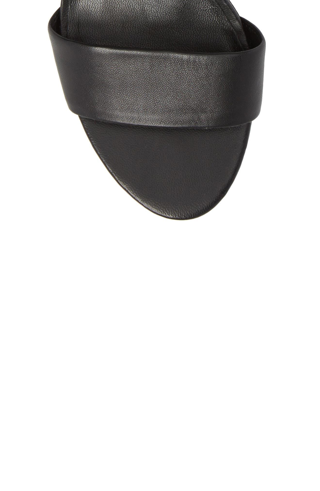 Coraline Ankle Tie Sandal,                             Alternate thumbnail 5, color,                             001