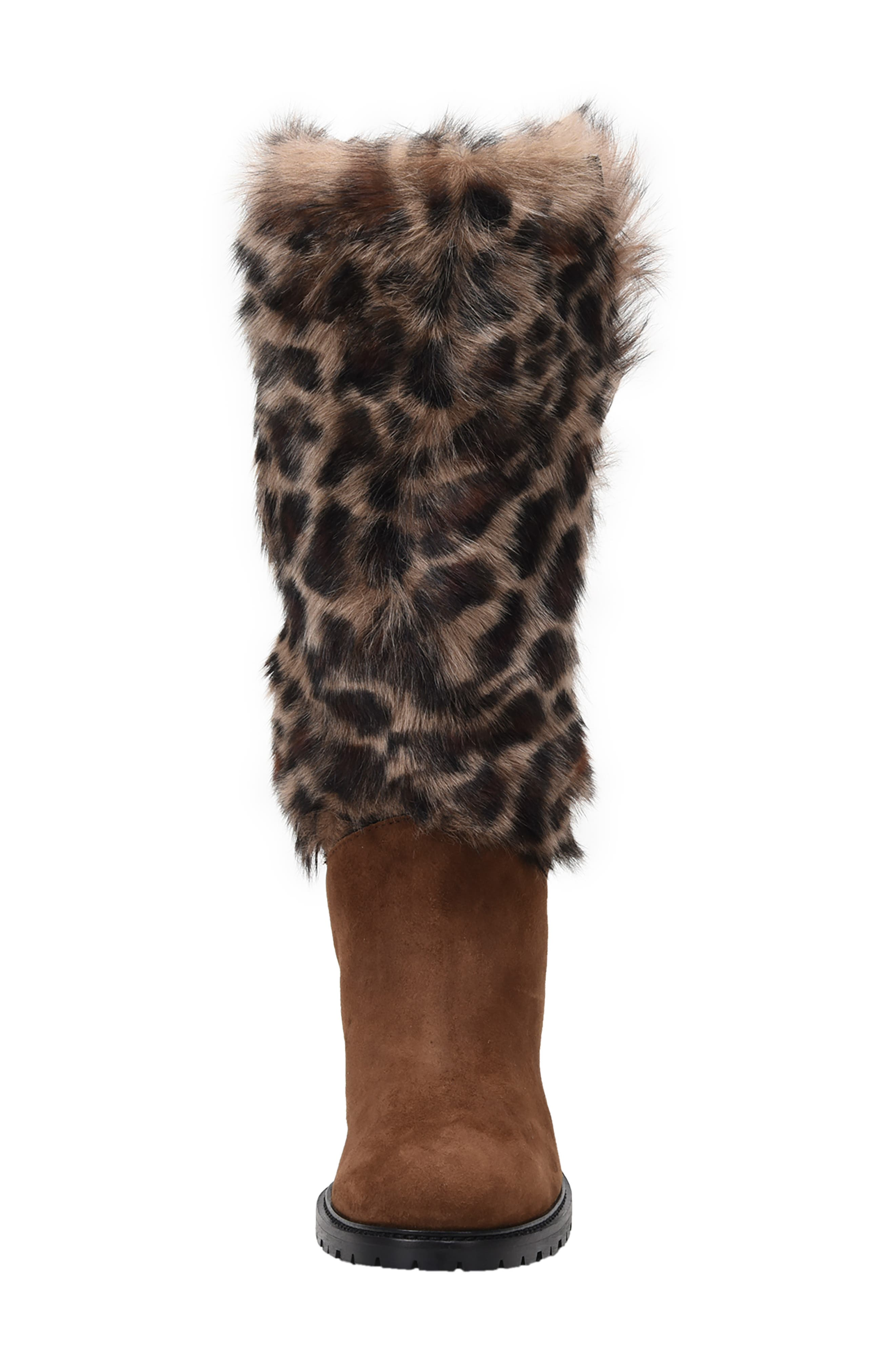 Weatherproof Genuine Shearling Boot,                             Alternate thumbnail 3, color,                             LEOPARD LEATHER